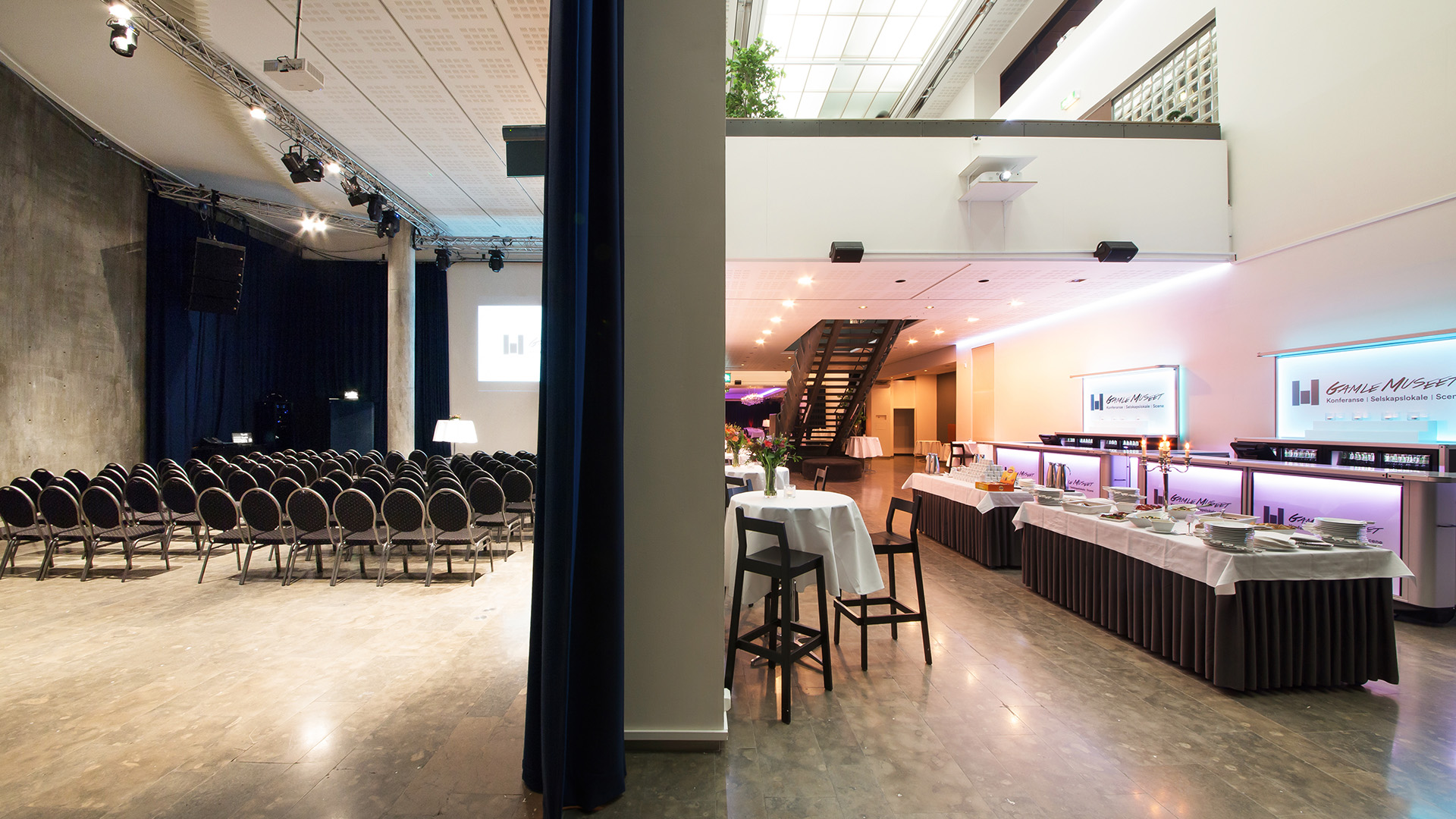 Large rooms for conferences and lots of space for serving lunch in a different part of the venue.