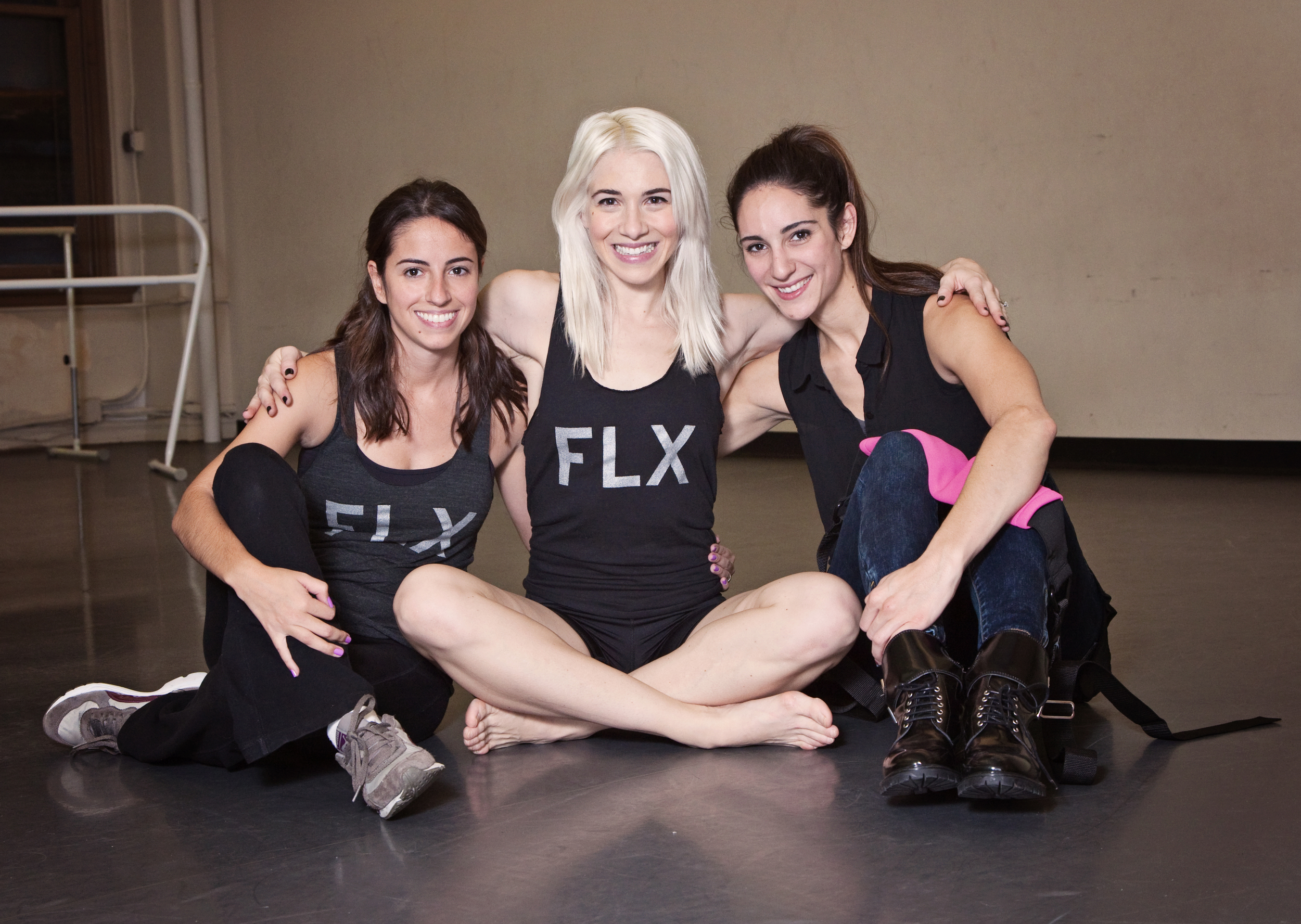 Left to Right: Renata Pavam (Photographer), Adrienne Canterna (Bad Boys of Ballet), and Rachel Hamrick (FLX Founder)