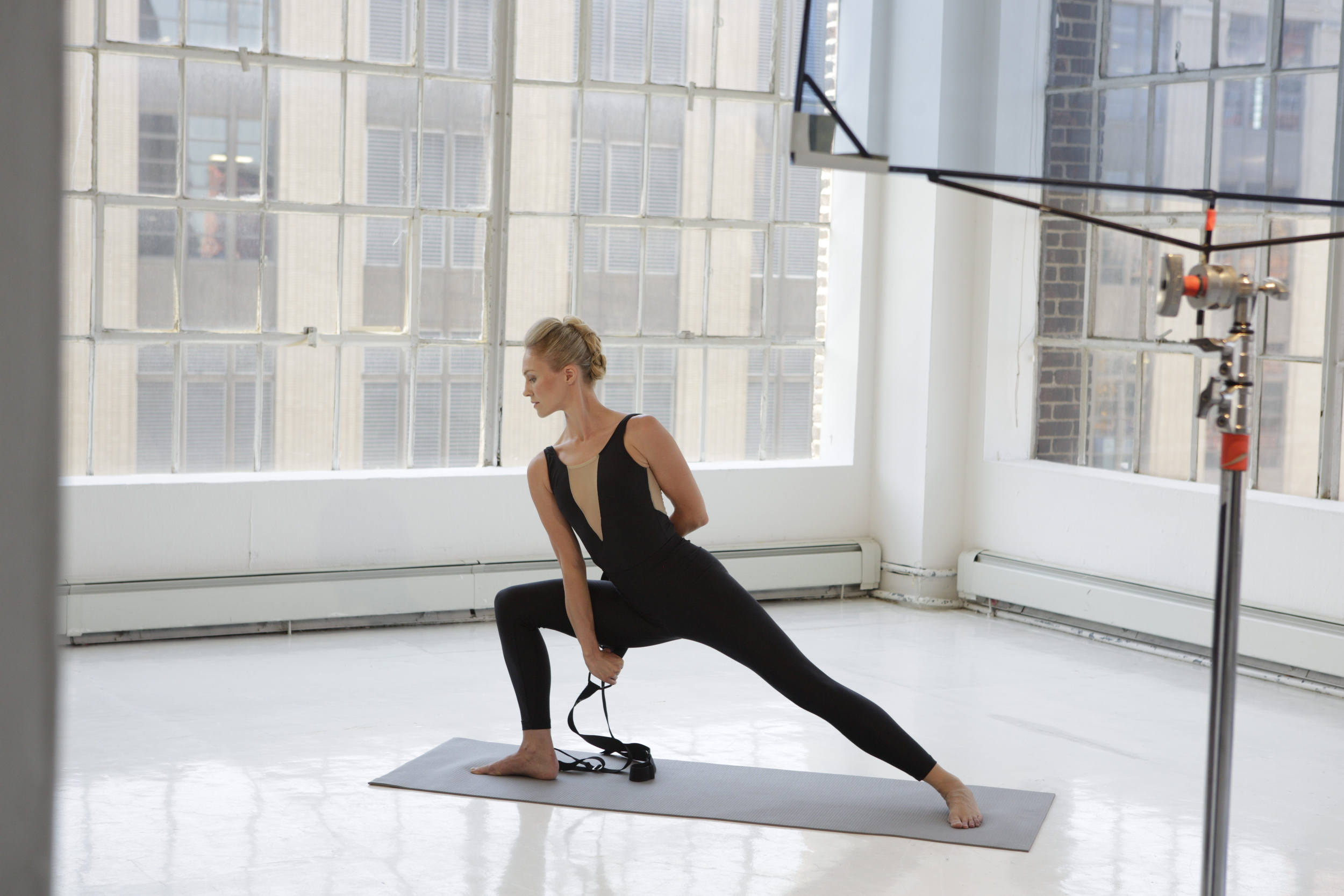 Binding beautiful: using the Flexistretcher to help complete your bind will allow you stay in correct form and fully experience the pose rather than twisting, forcing, and pulling yourself into the position