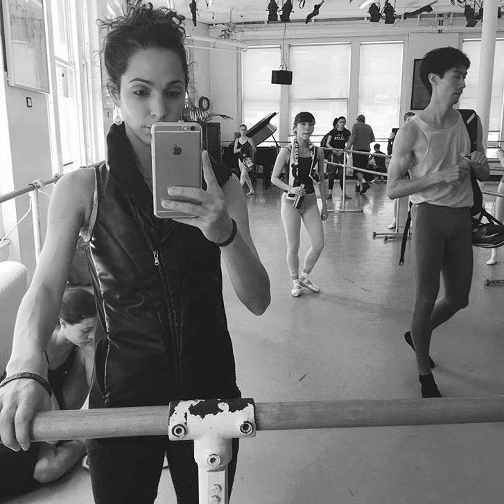 Ballerina #Selfie 😜 // @la_scheller Principal with New York City Ballet in the Leather  #OdileVest