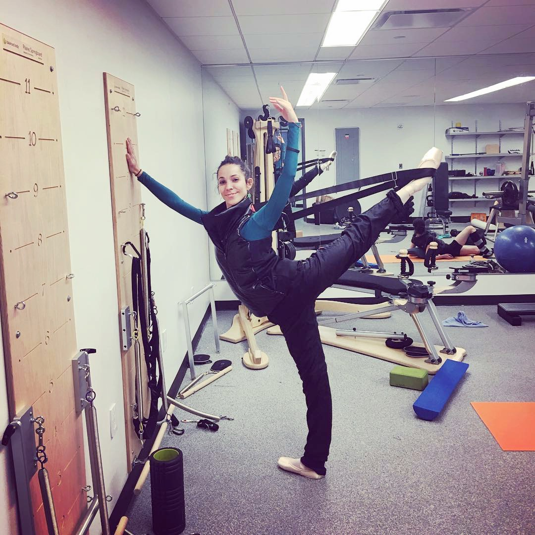 All Flexistretcher. 😎🙌💕The beautiful  @la_scheller , principal with  @nycballet  #Flexistretcher  #Odilevest