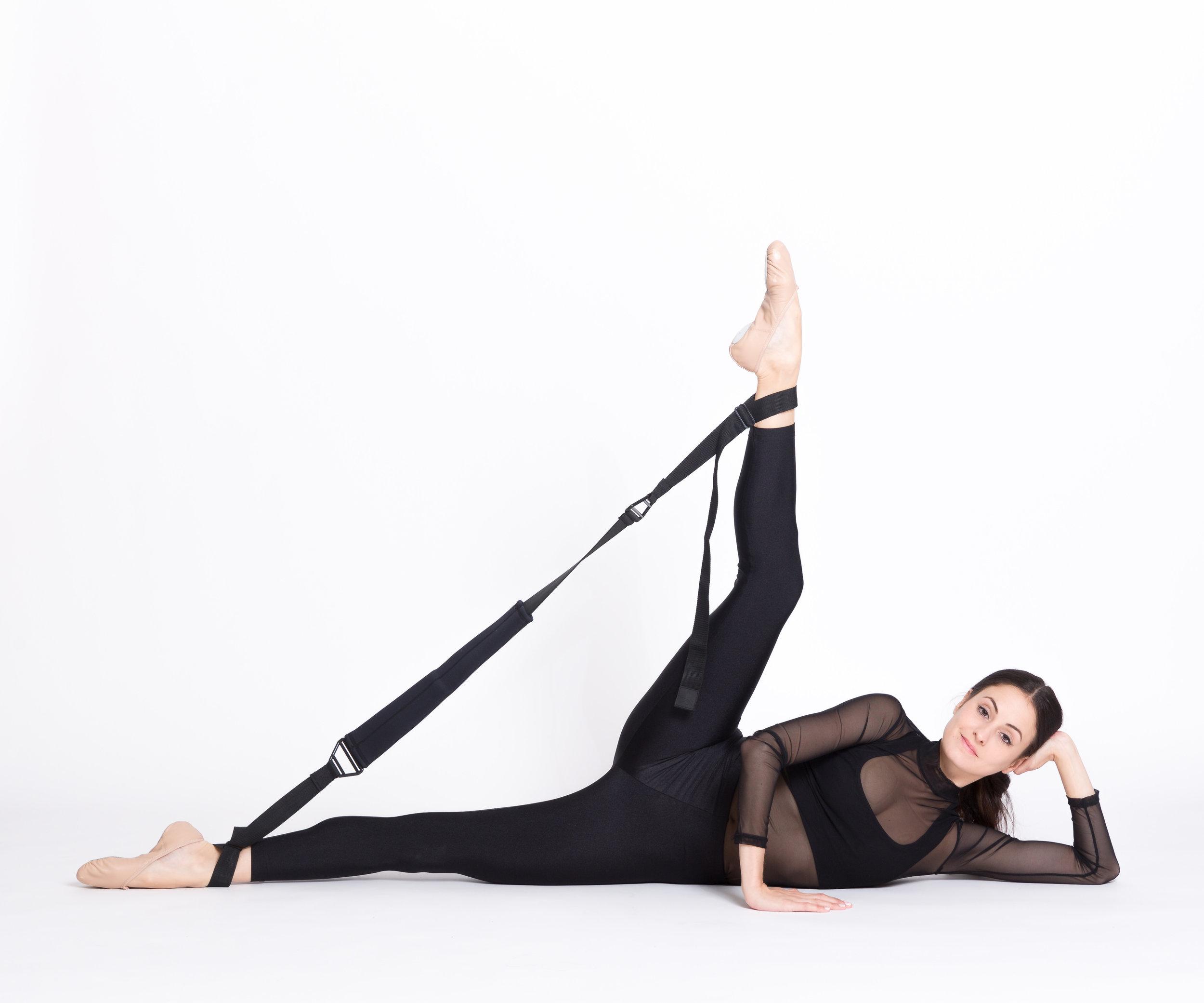Melanie Hamrick of ABT doing Flexistretcher side kicks