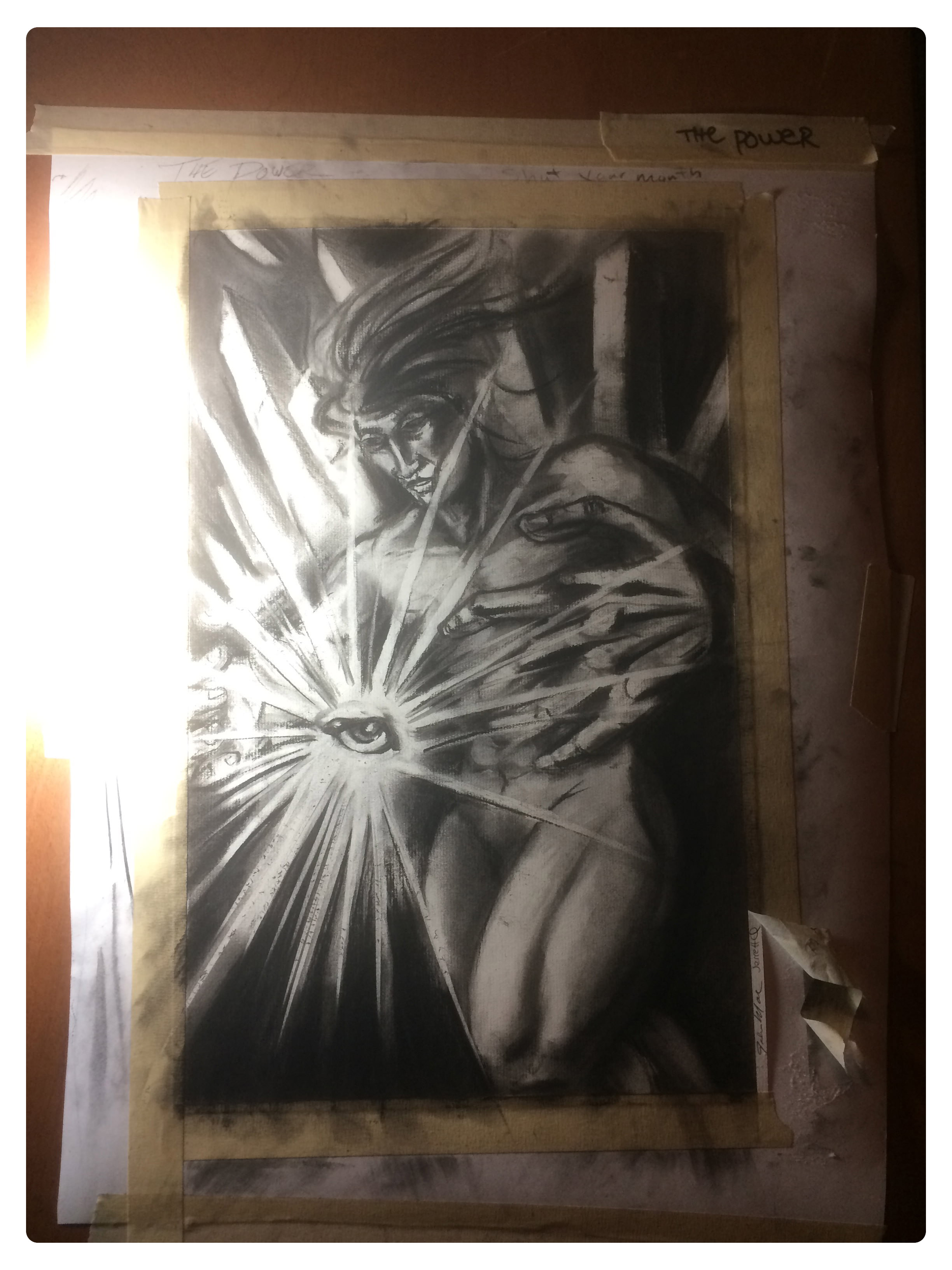 Charcoal drawing by Shane Acuff, Photography by E. Murphy