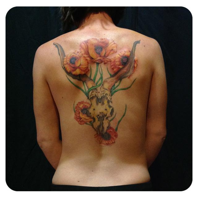 Art by Georgia O'Keefe, Tattoo by Shane Acuff