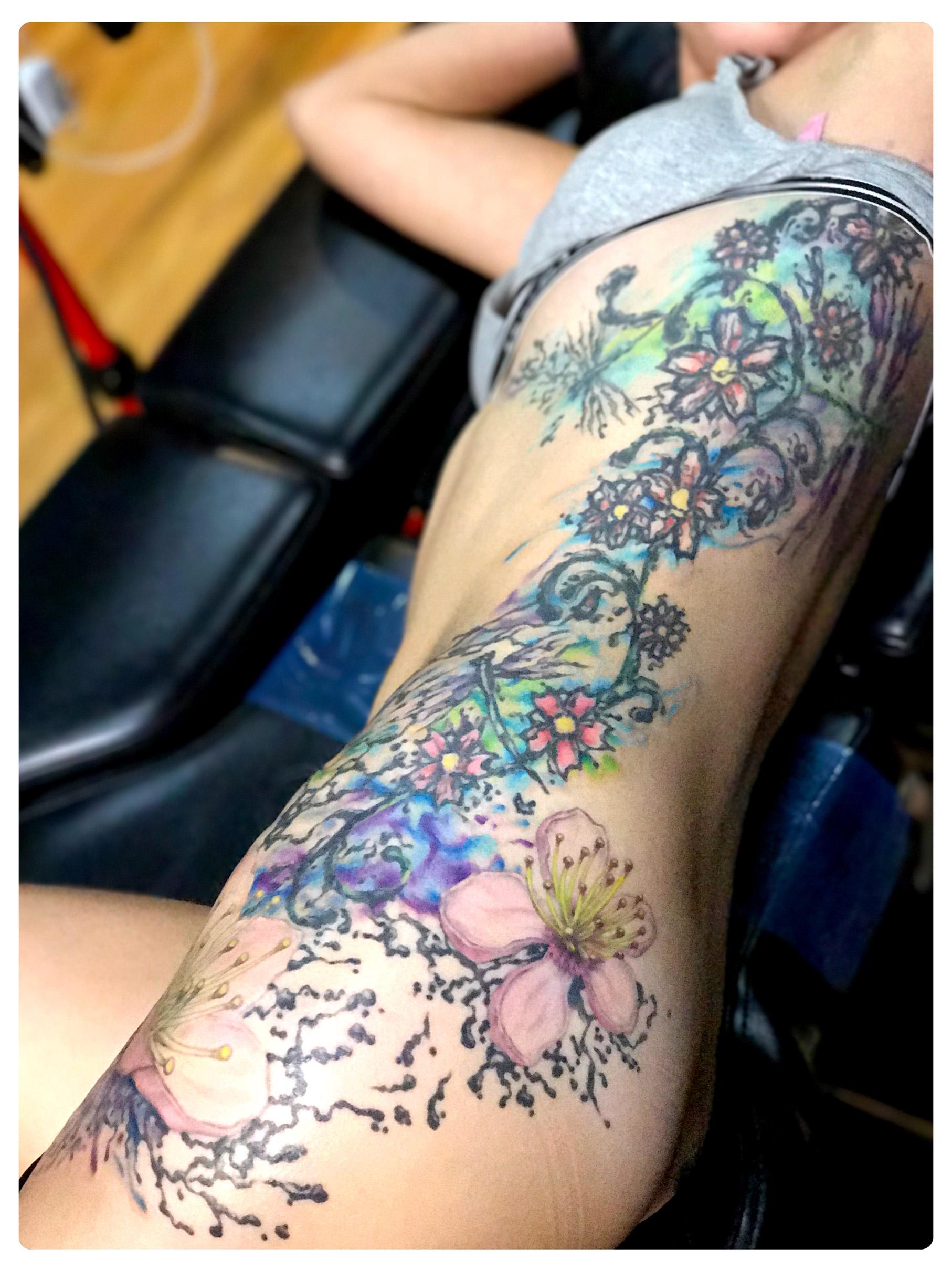 In-progress Tattoo by Shane Acuff