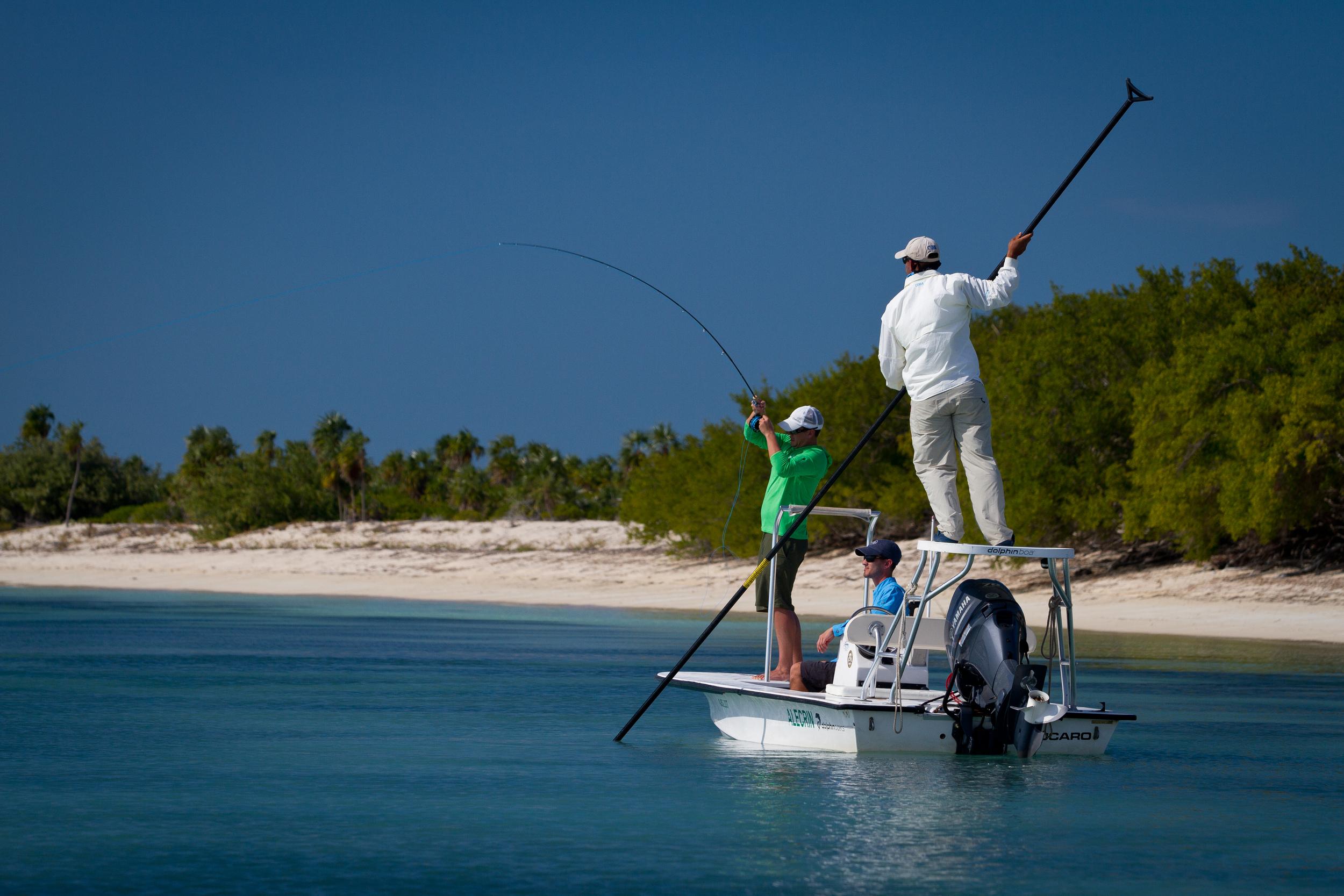 Fly Fishing for Bonefish, Jardines de la Reina, Cuba