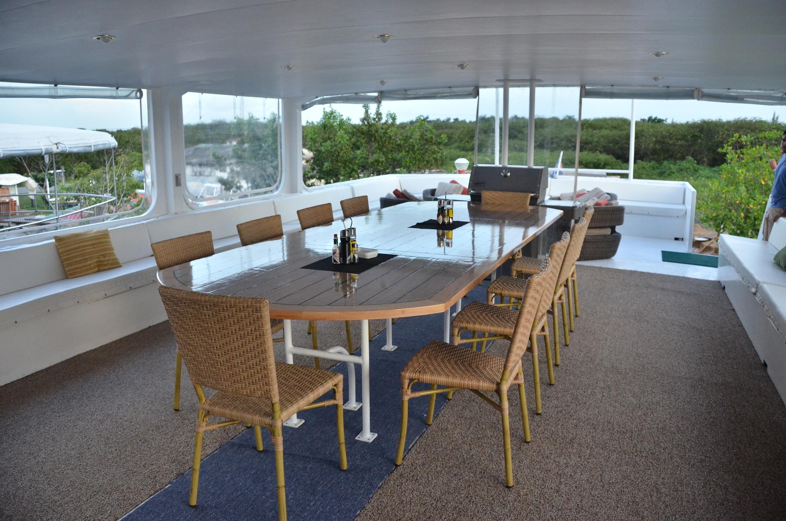 Dining area aboard Georgiana