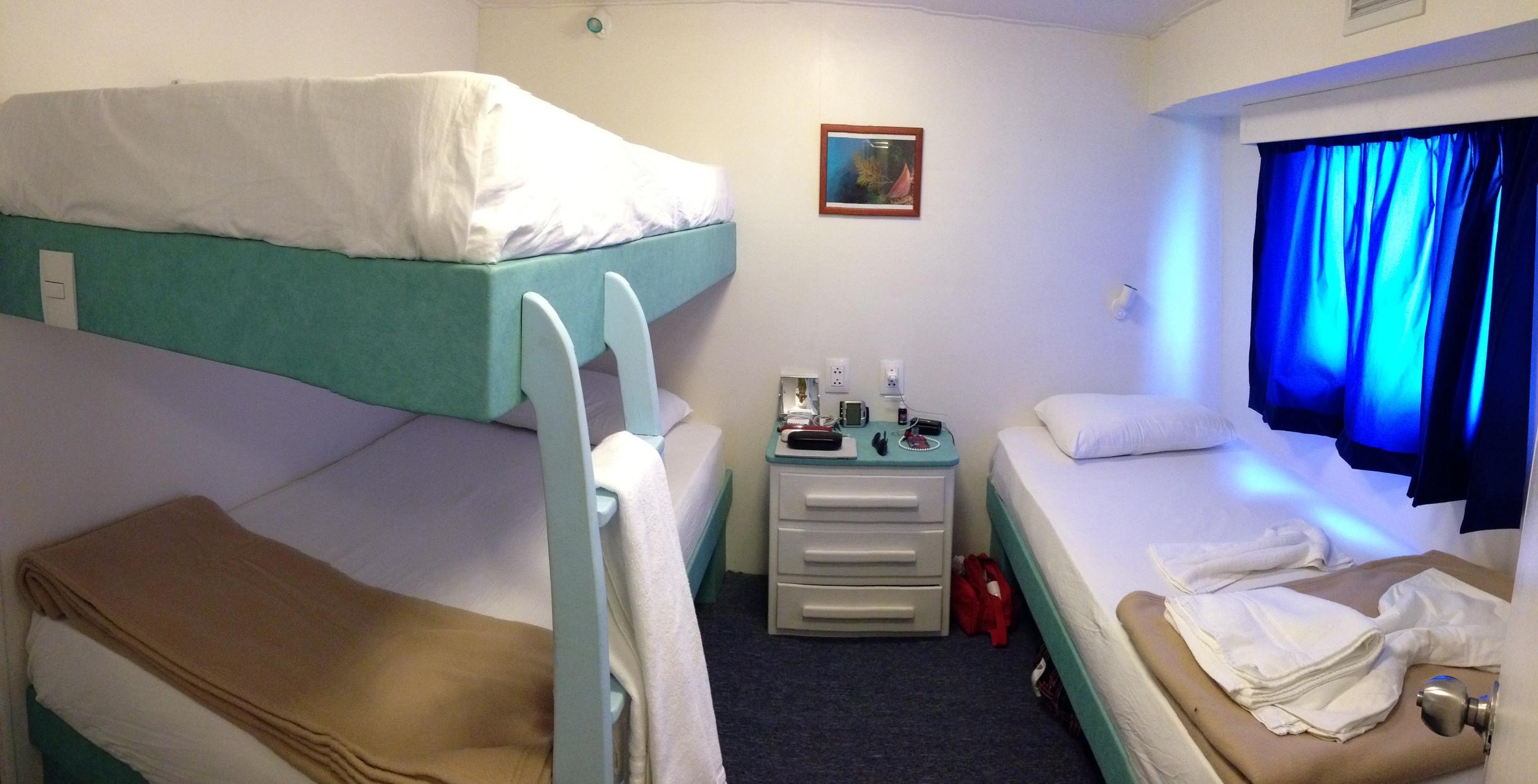 Accommodations aboard Georgiana