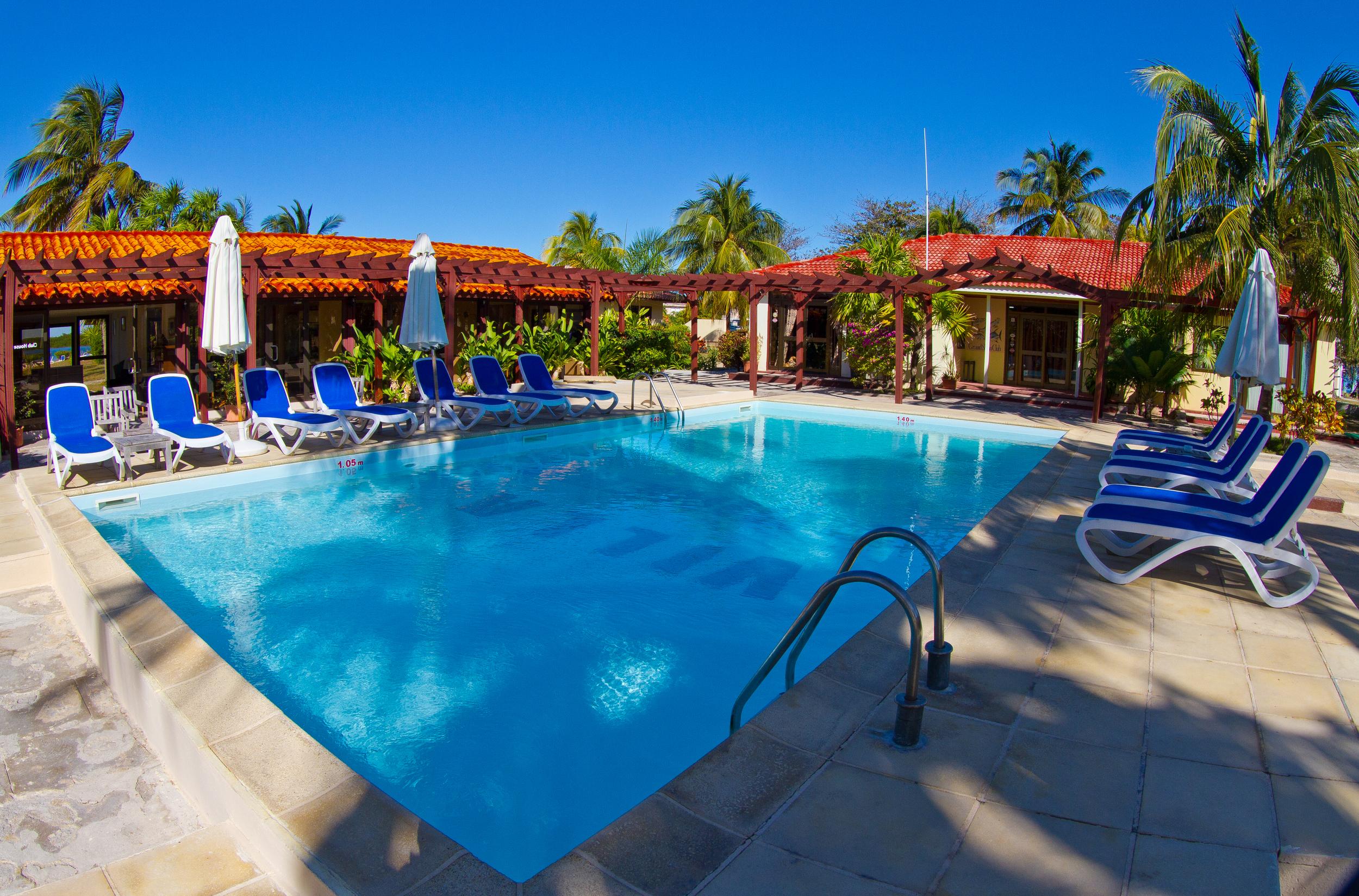 Quaint area around the pool