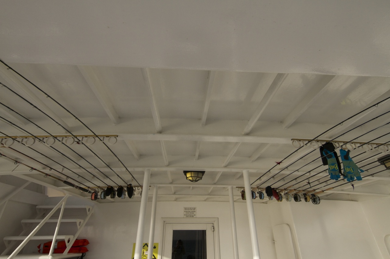 Great rod storage aboard AF1