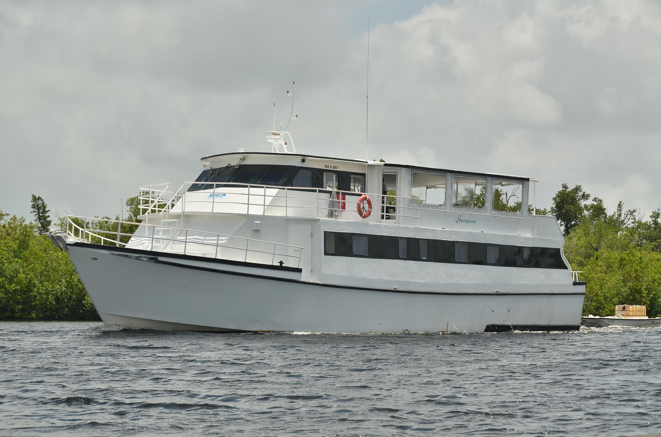 Georgiana at anchor