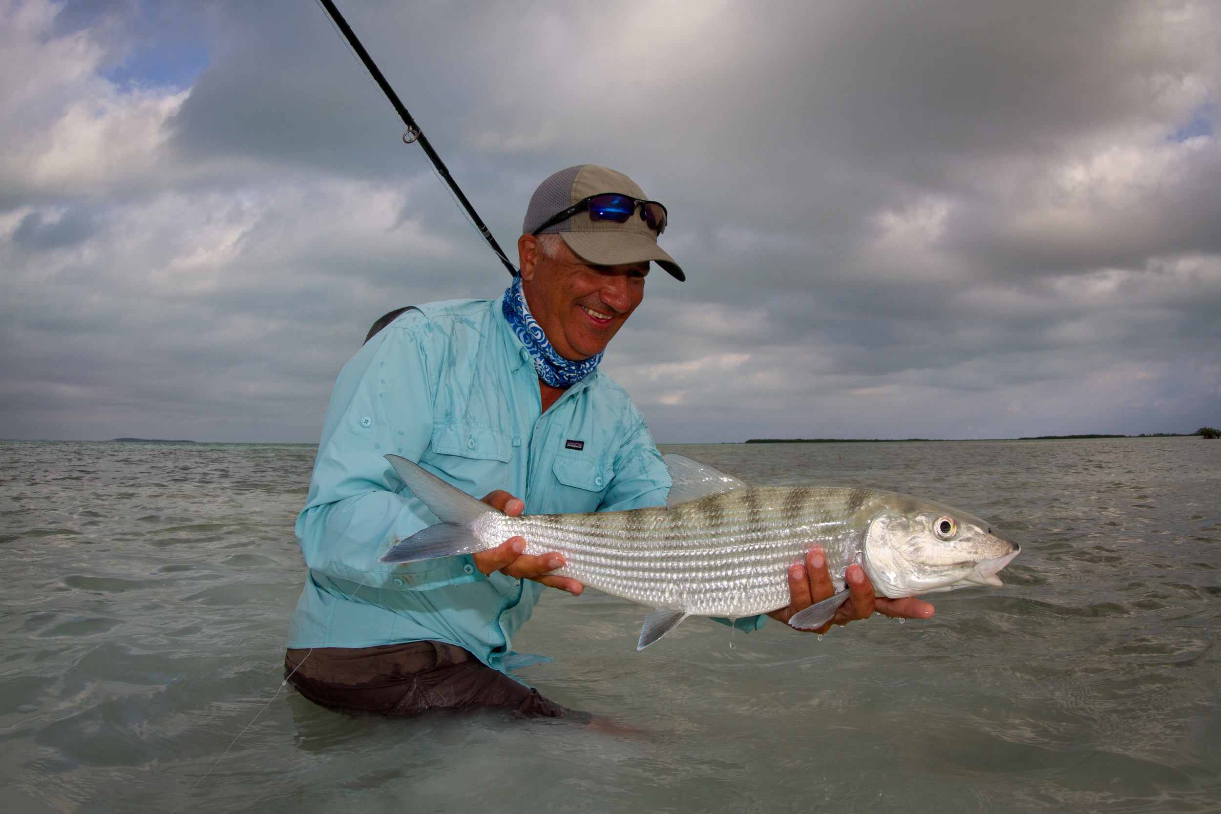 Jon Covich and a better than average Bonefish, Cayo Cruz, Cuba