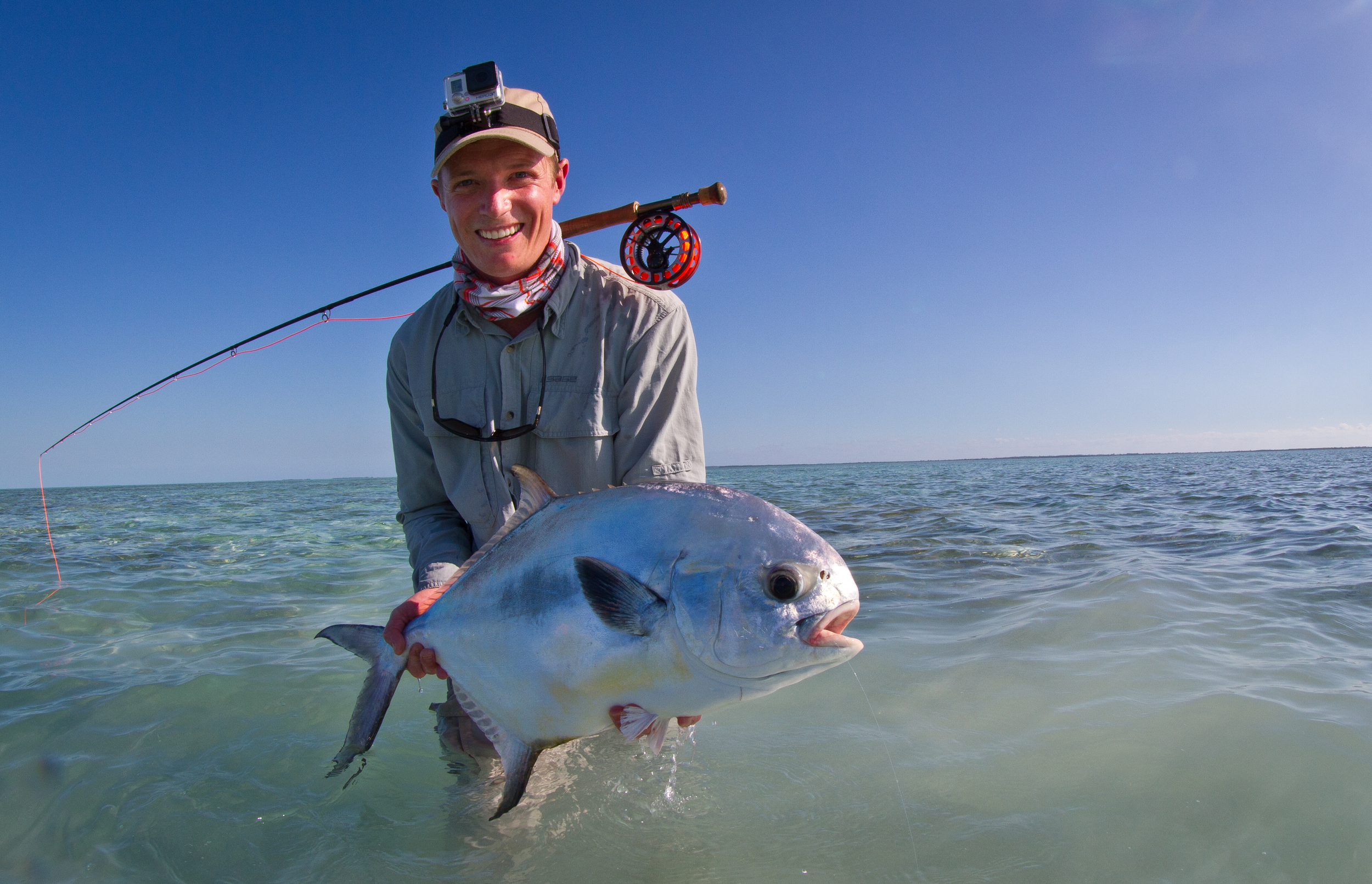First ever landed Permit for this Australian angler, Cayo Largo, Cuba
