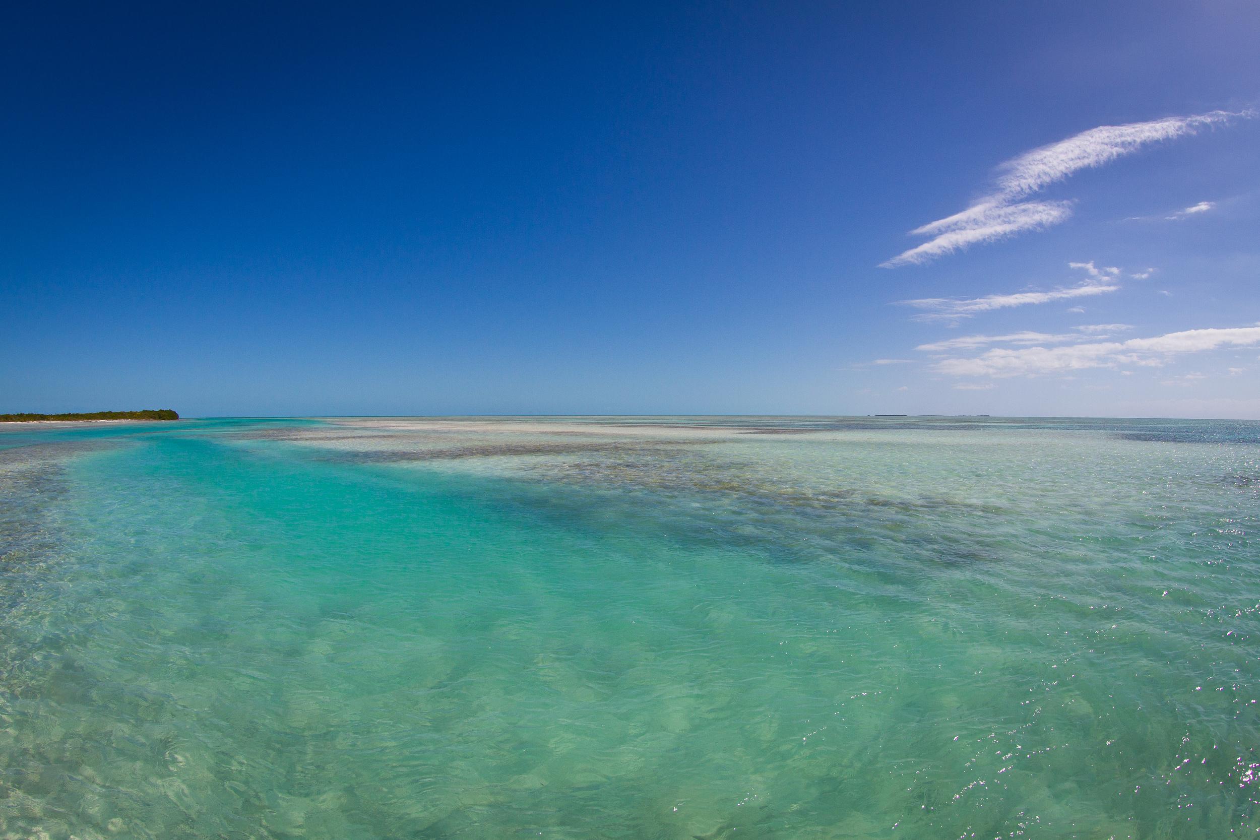 The channels around Cayo Largo are great for Jacks, Cuda, and Tarpon in season, Cayo Largo, Cuba