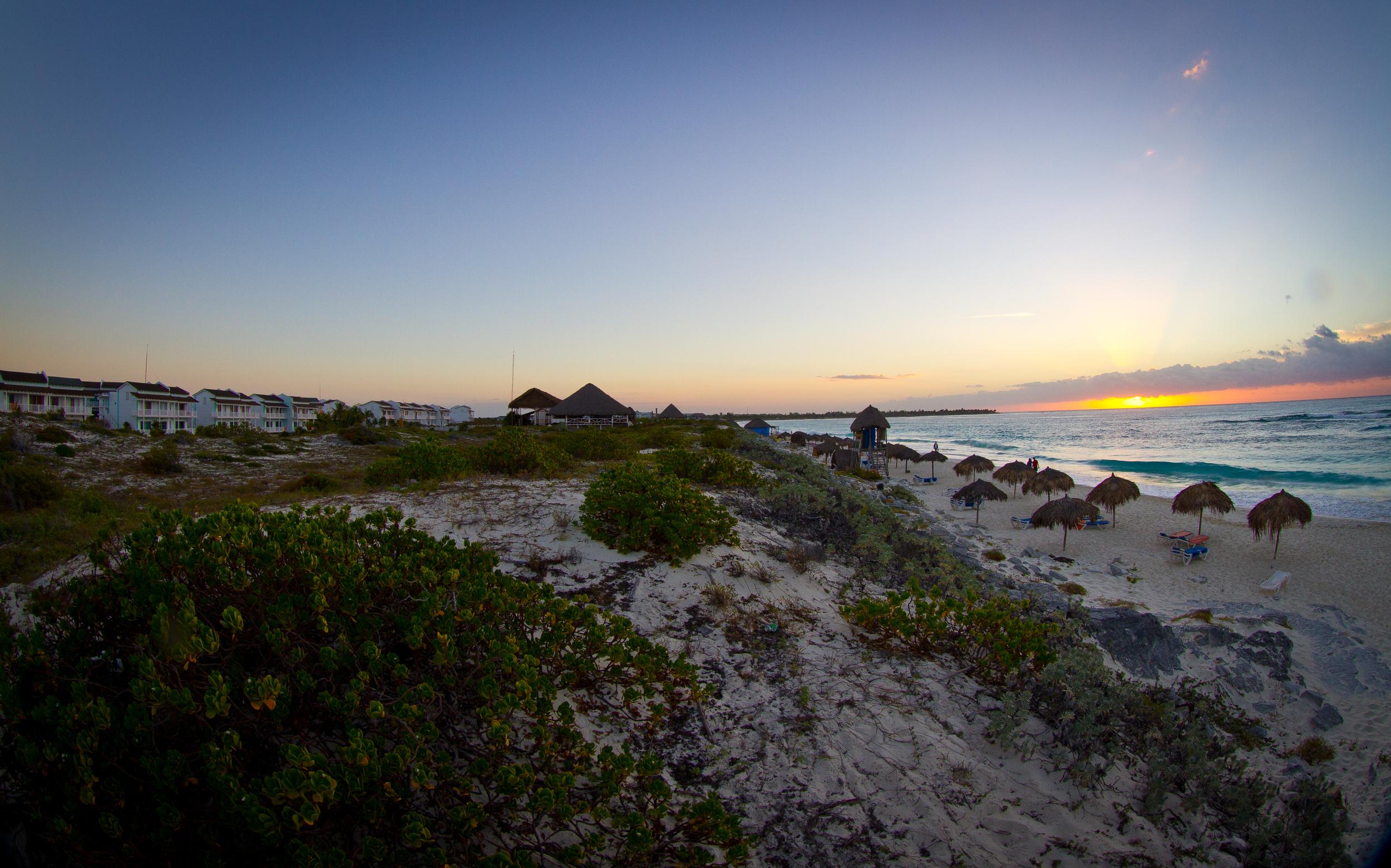 Sunrise at Sol Club beach, Cayo Largo, Cuba