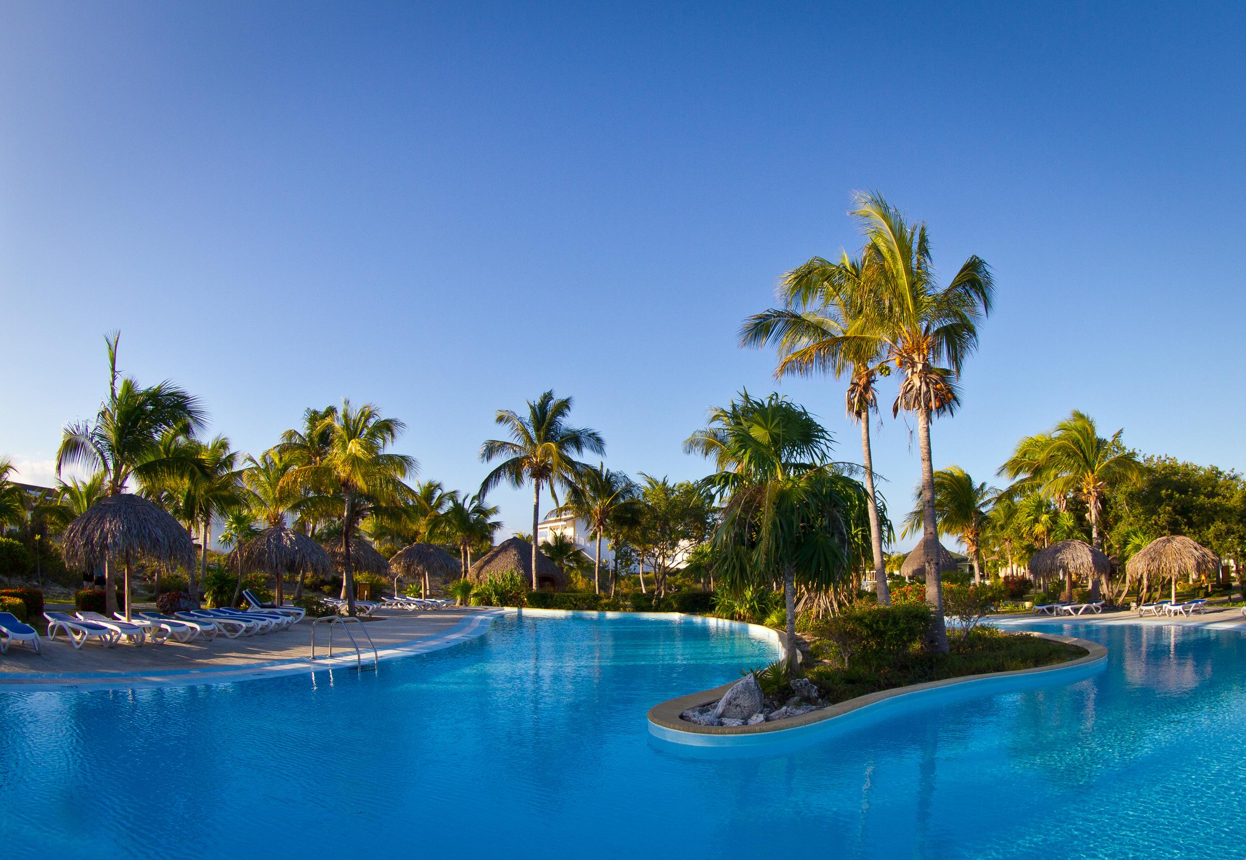 The pool at Sol Club, Cayo Largo. Cuba