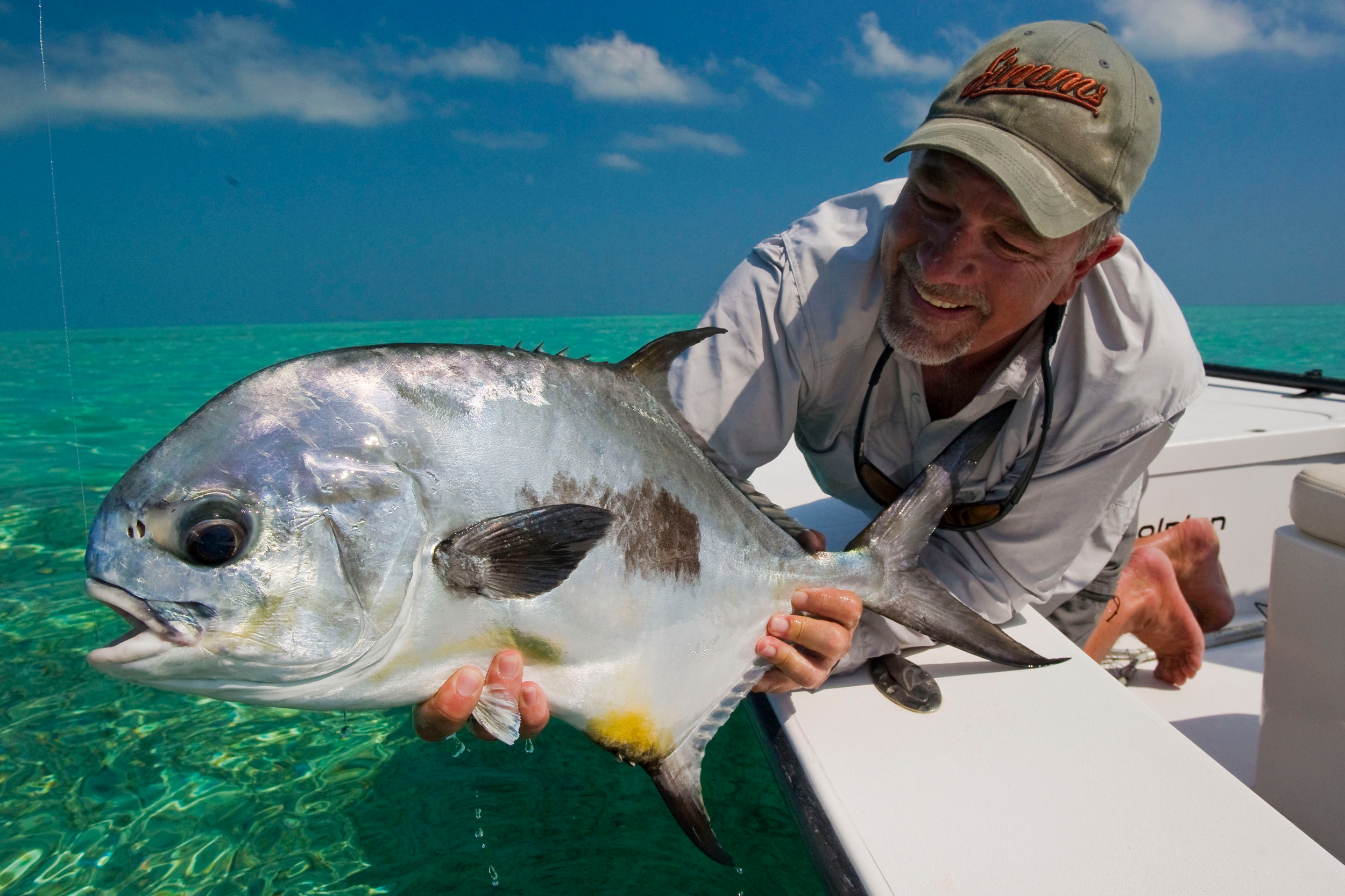 Greg Vincent shows off a hard-earned Permit, Cuba