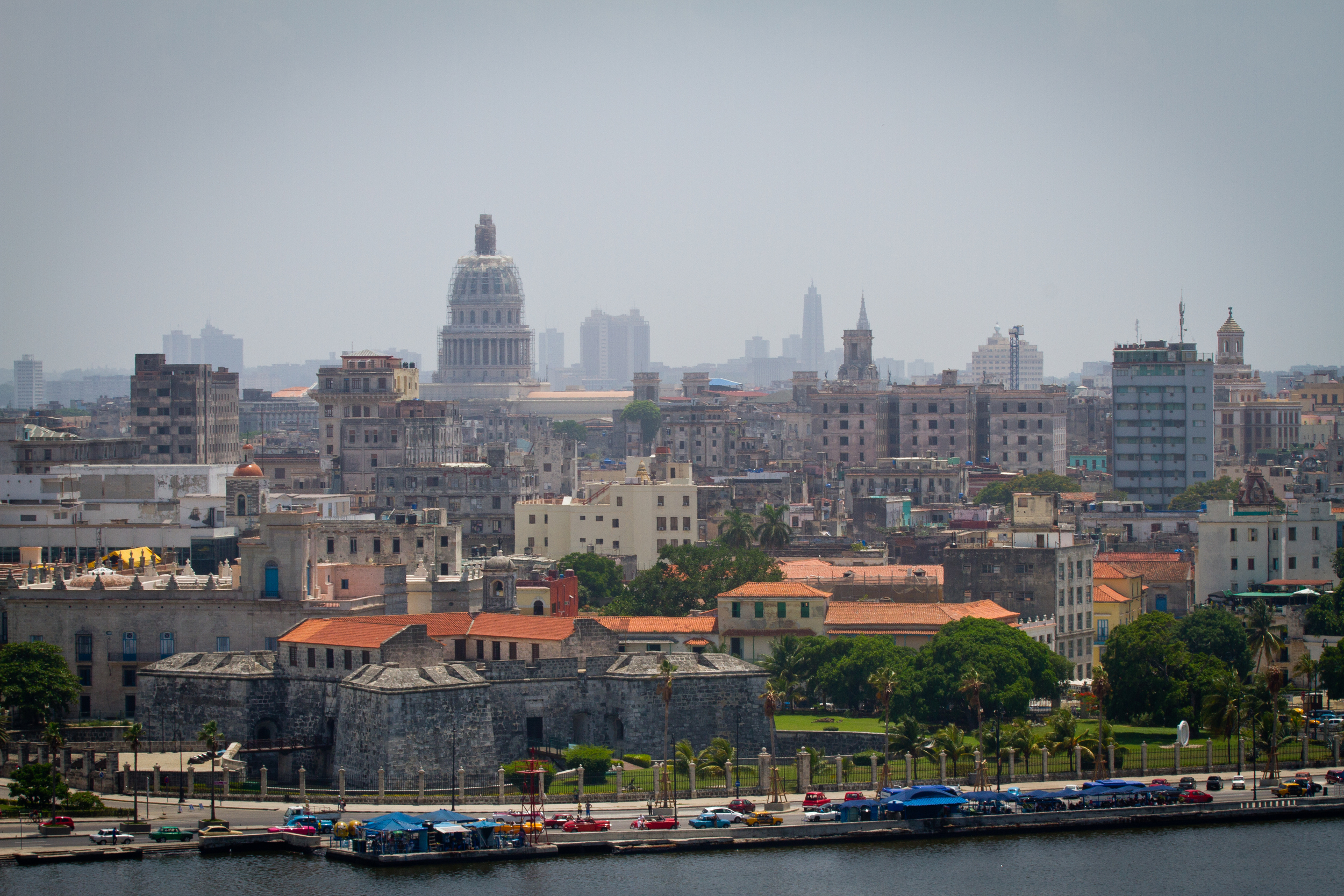 View of Old Havana from across the harbor, Havana, Cuba