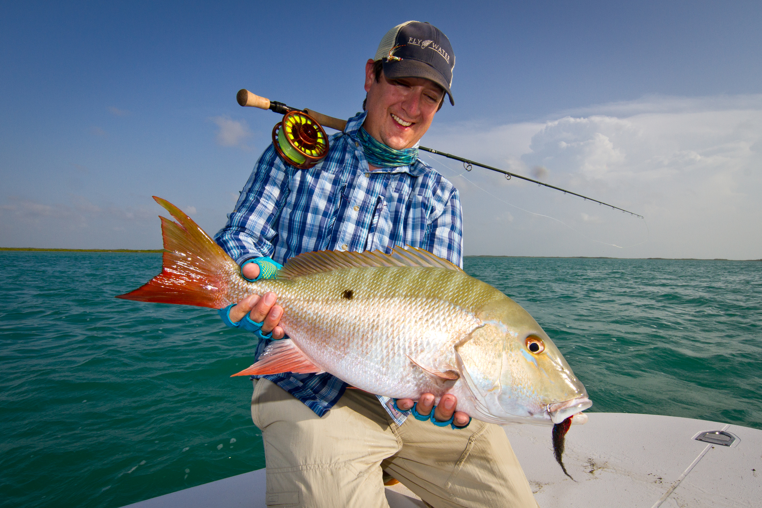 Dylan Rose with a nice Mutton Snapper, Cayo Cruz, Cuba