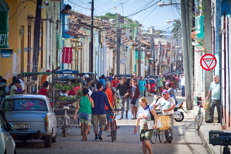 Busy street, Trinidad, Cuba