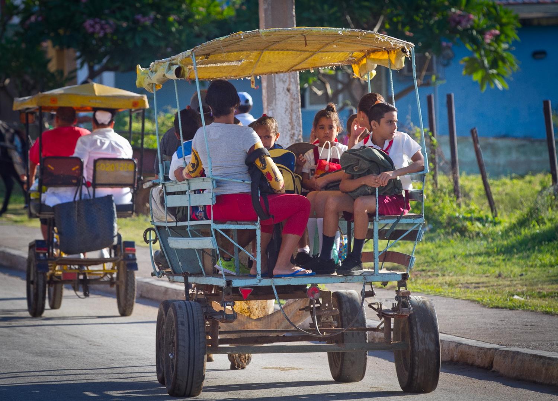 Kids going to school, Trinidad, Cuba