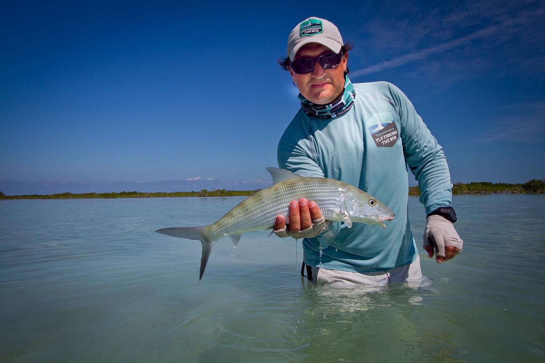 Fly Fishing for Bonefish, Gardens of the King, Cuba
