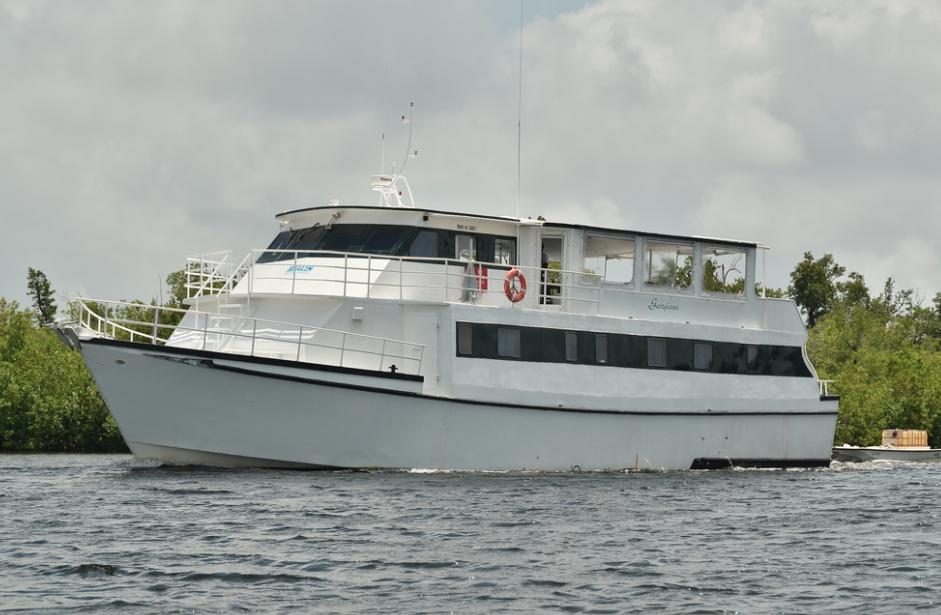 The yacht Georgiana