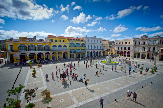 Plaza Vieja in old Havana