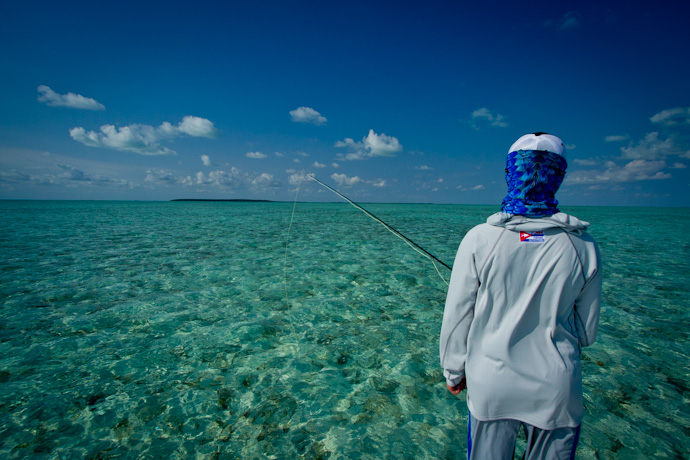 On the lookout for Permit, Cayo Cruz, Cuba