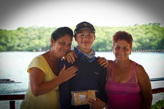 Teddy and his two biggest fans, Cayo Cruz, Cuba