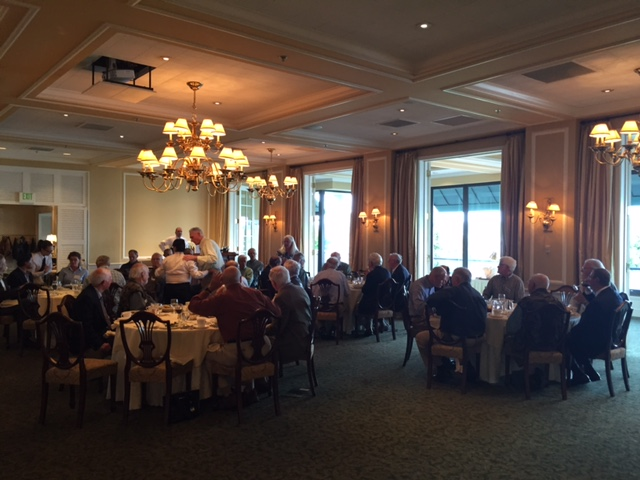 WFFC gather for dinner and presentation