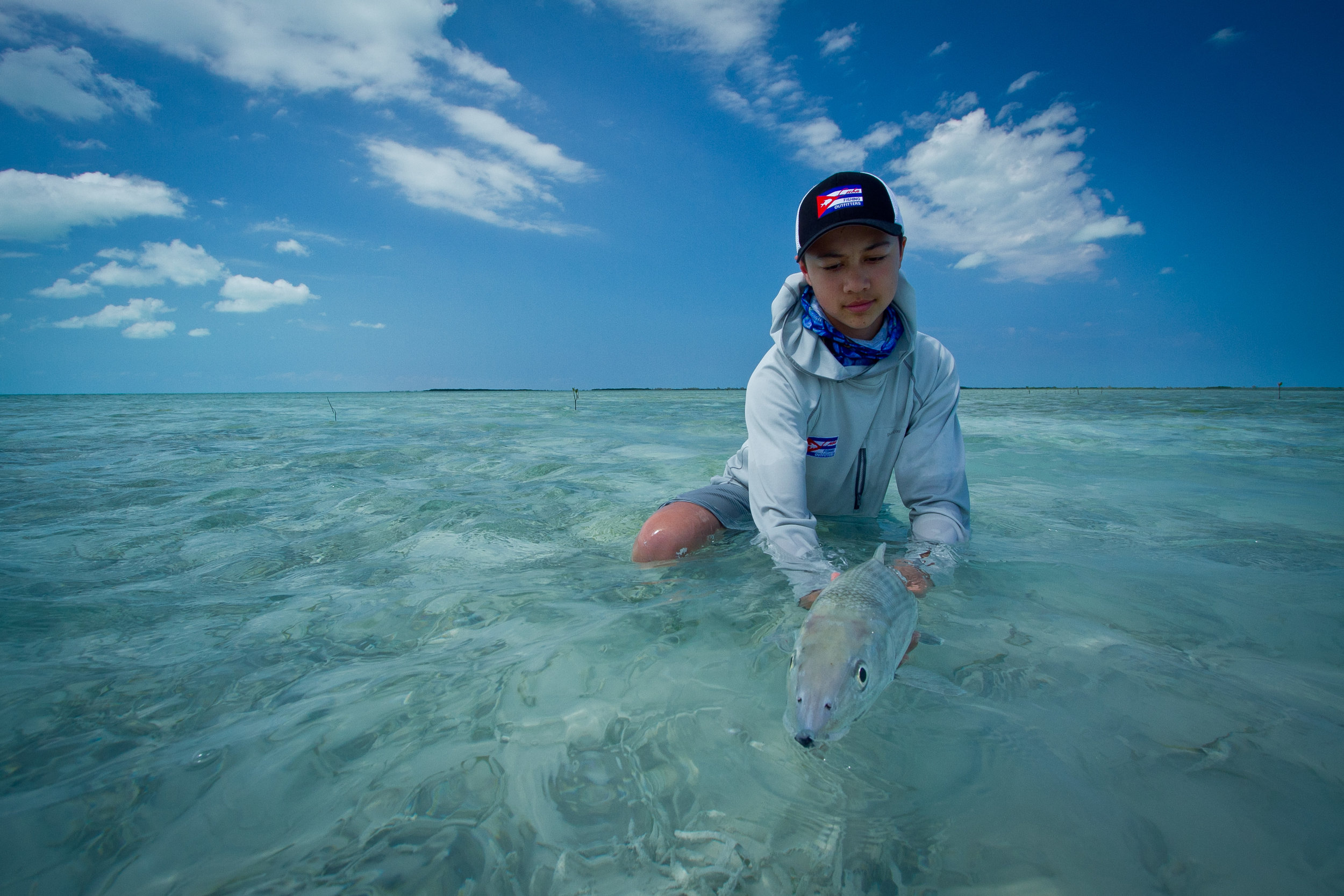Fly Fishing for Bonefish, Cayo Cruz, Cuba