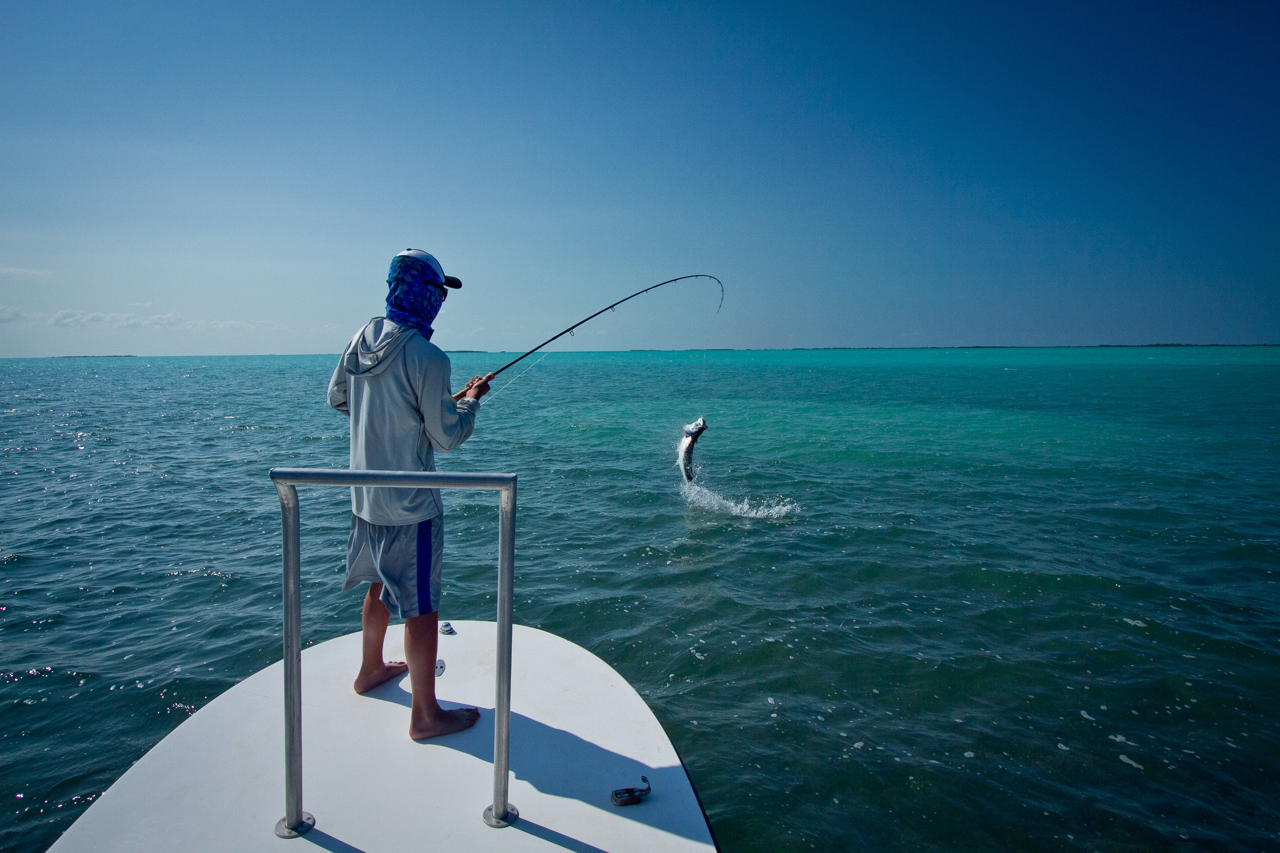 Fly Fishing for Tarpon, Cayo Cruz, Cuba