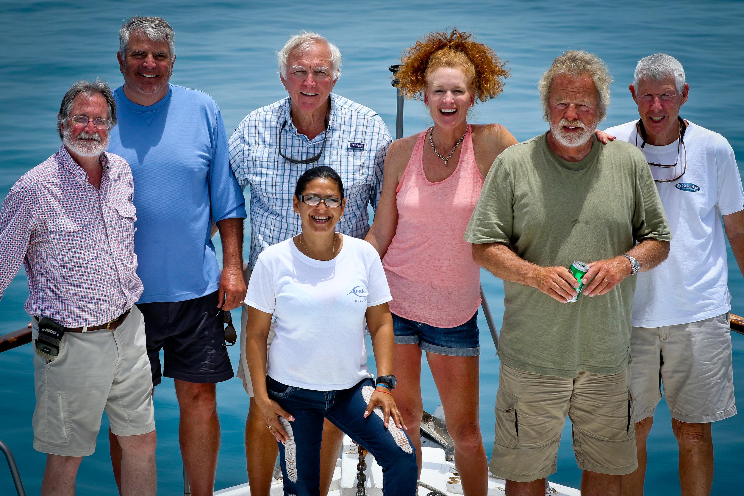 From the left, Warren, Steve, Paul, Valerie, Bob, Richard, and our lovely Aysa.