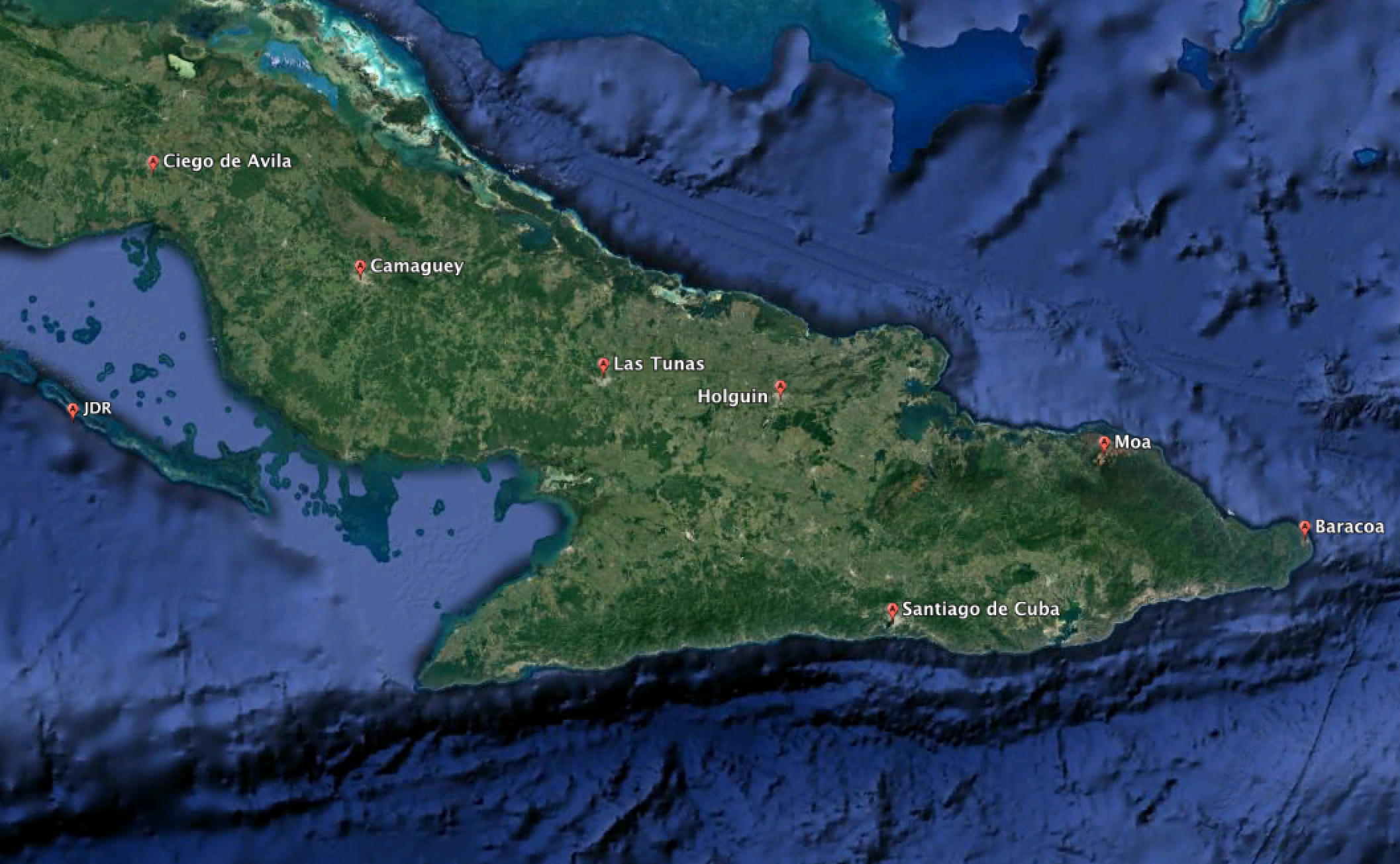 My stops throughout eastern Cuba, included about 800 road miles.