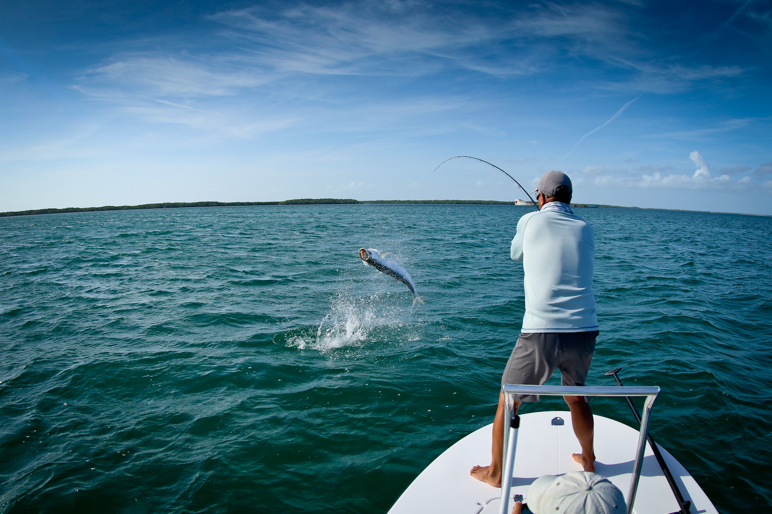 Thanks to our guide Elyses for this great capture of a fish I was fighting as it jumped near our skiff.