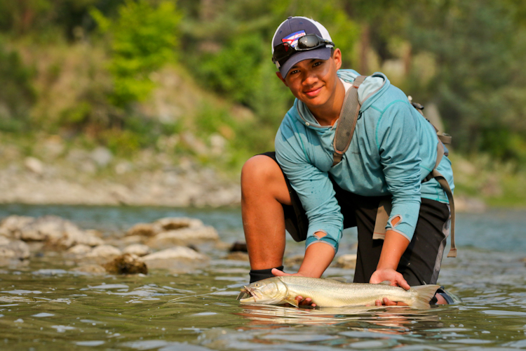 Greger....proud of his Bull Trout