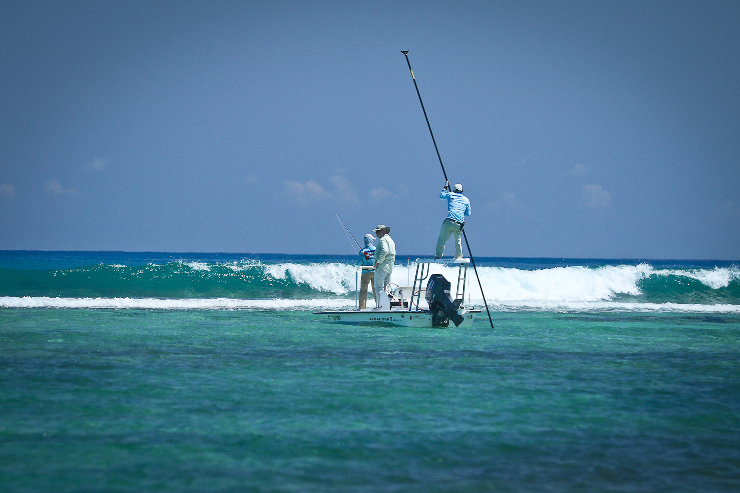 Tarpon fishing along the Western reef