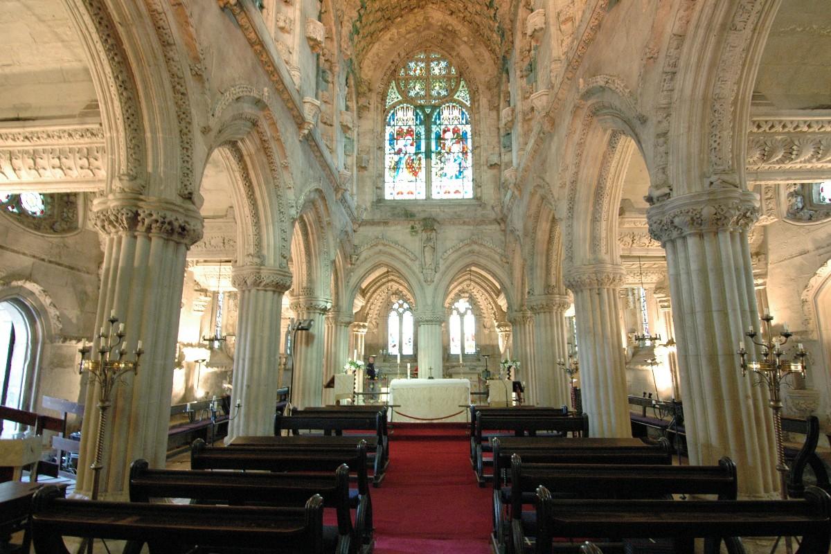 Inside the Rosslyn Chapel