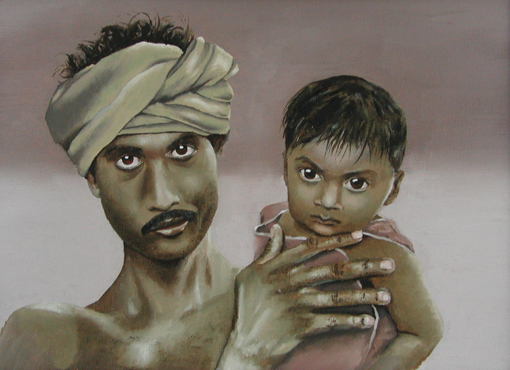 """The Dalit  9""""x12"""" Oil on Canvas Board  $269"""