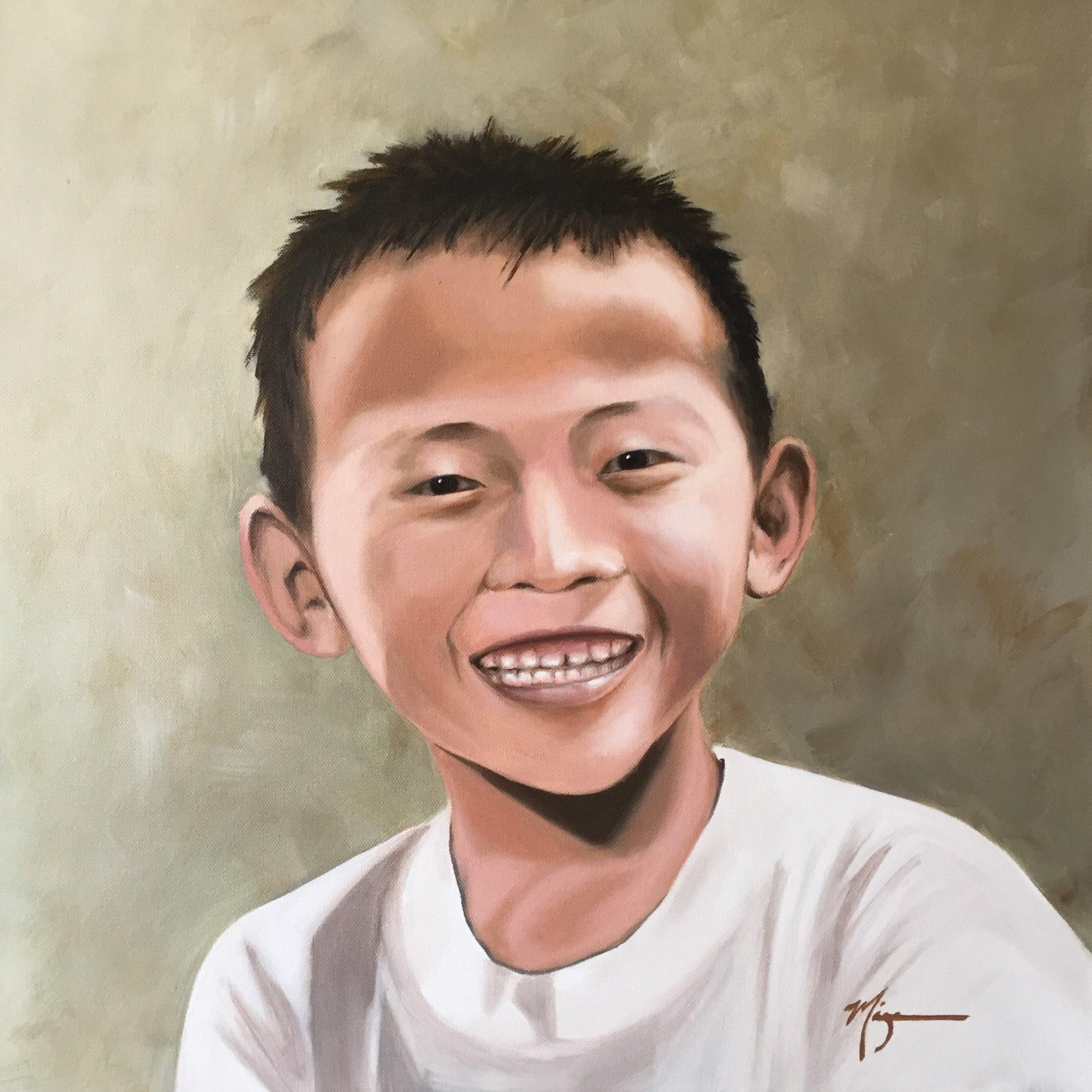 """Thanaka Paint  20""""x20"""" Oil on Canvas  $1060"""