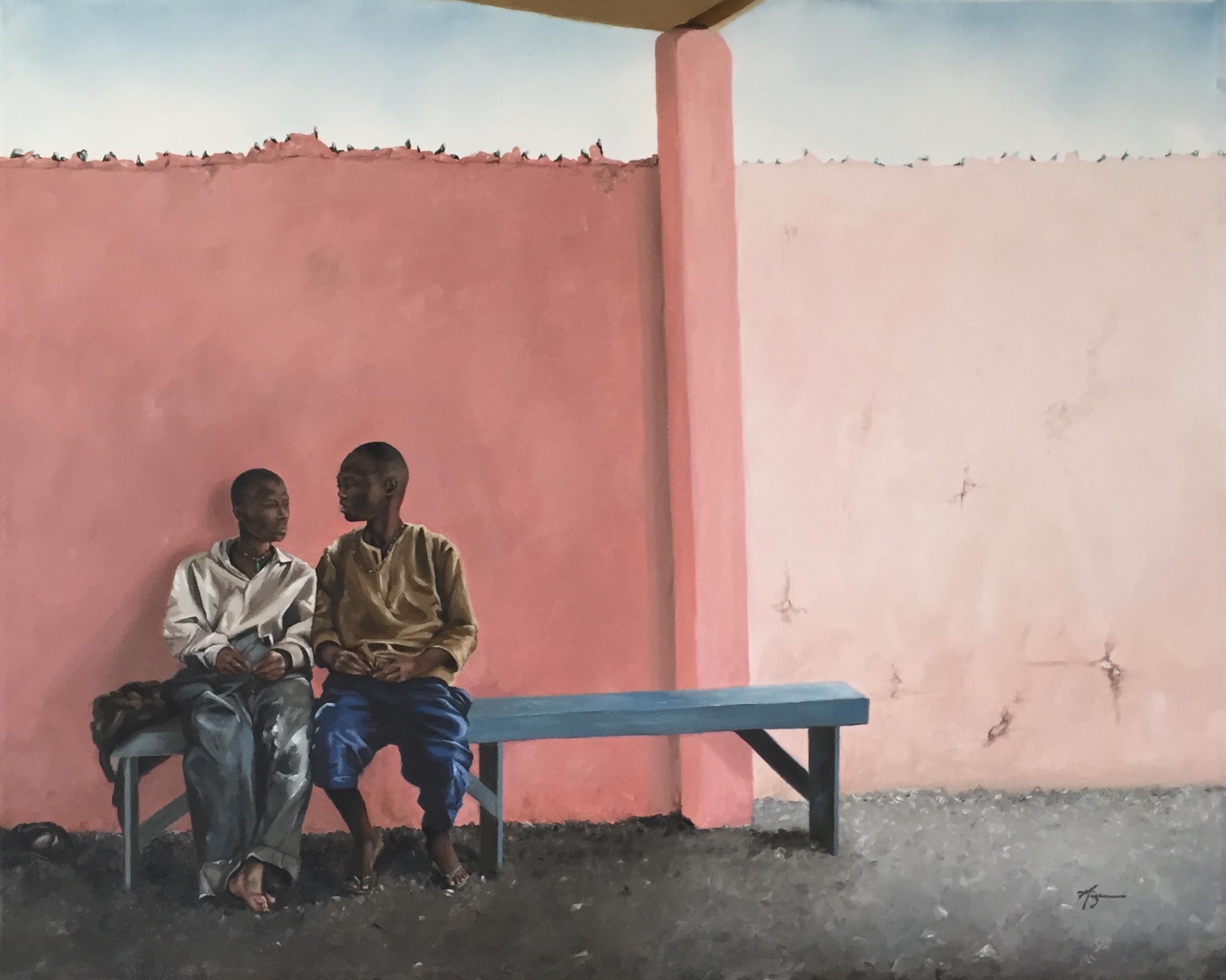 "Talibe Boys  24""x30"" Oil on Canvas  $1911"