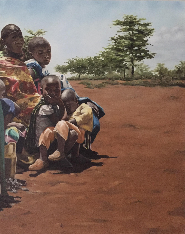 "The Maasai  24""x30"" Oil on Canvas  $1754"
