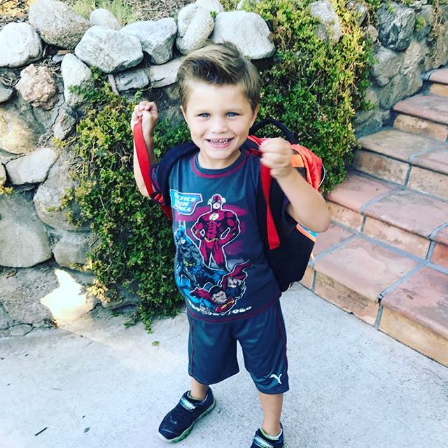 #FirstDayOfSchool !!! Zane said: I need gel in my hair so everyone will think I'm awesome! I had to improvise and will have to hone my technique at work- lord knows there's enough gel flying around there. I'll have to get @theedarinbrooks and @dondiamont to give me a tutorial!