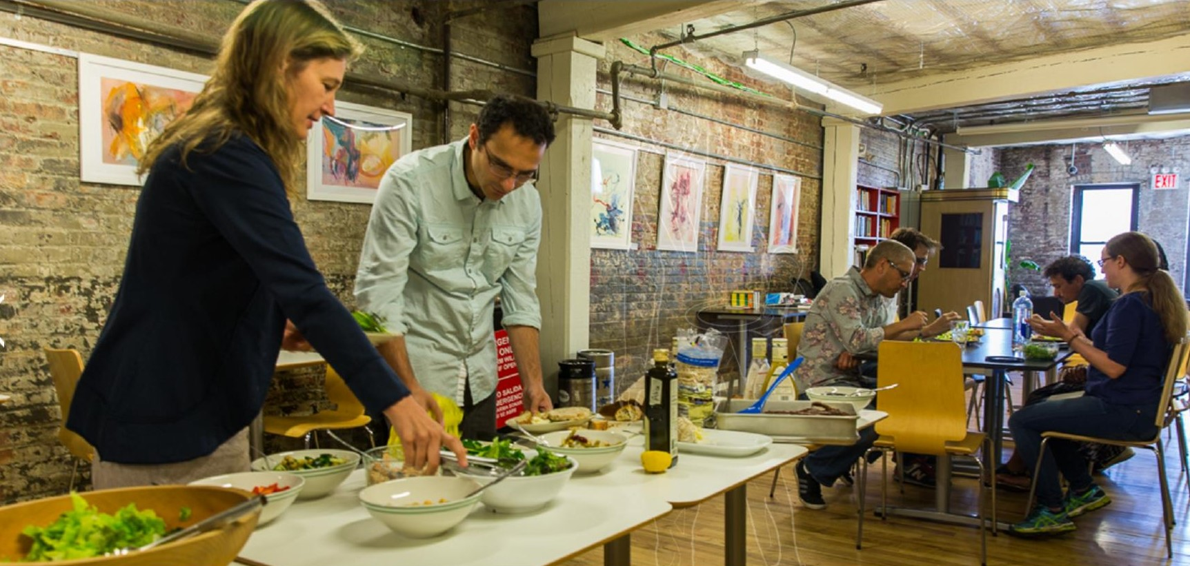 Wednesday Salad Days are an institution at Brooklyn Creative League. (photo Dave Pappas)