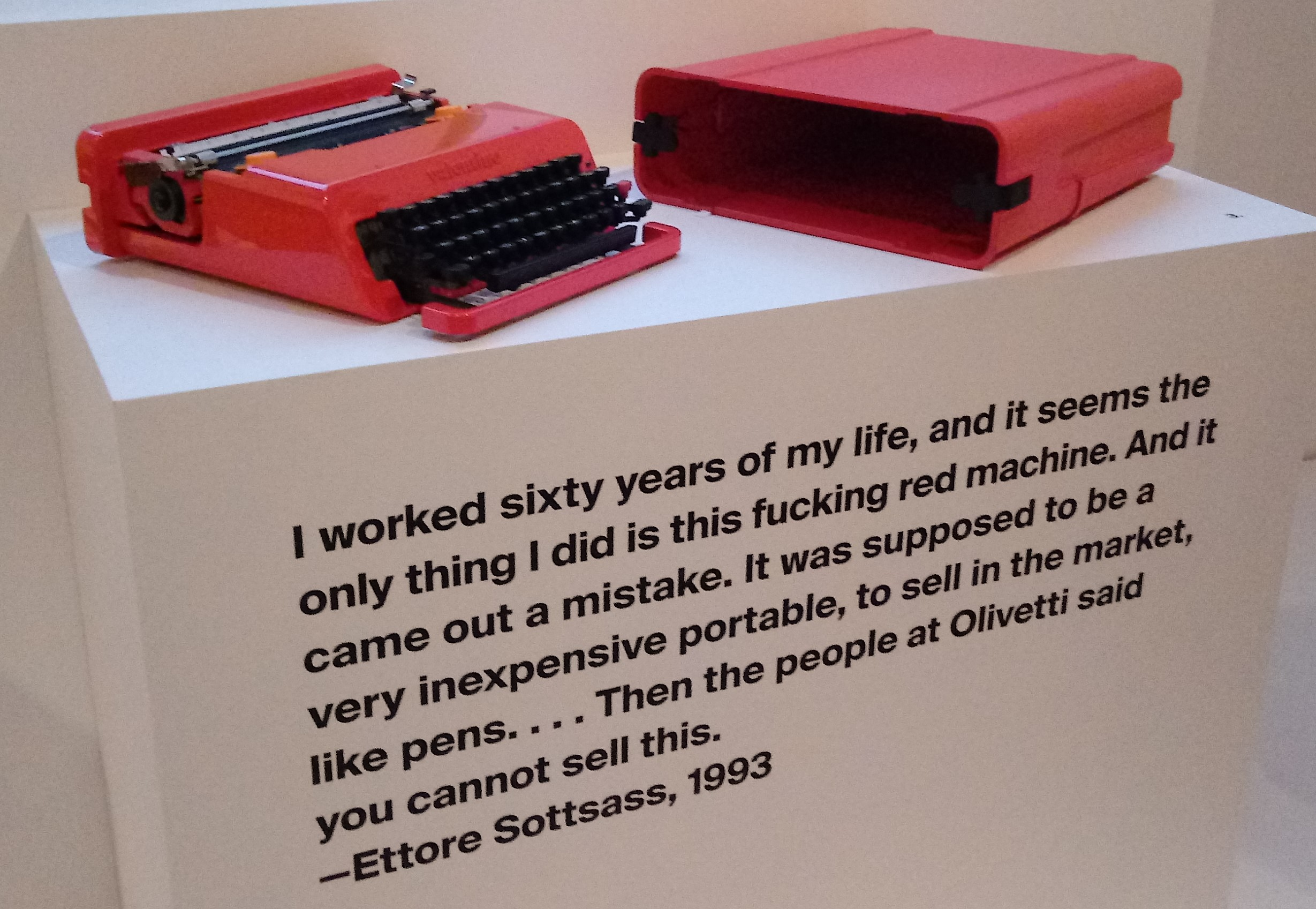Sottsass grew frustrated being identified with a singular product,. despite a rich career across many media.
