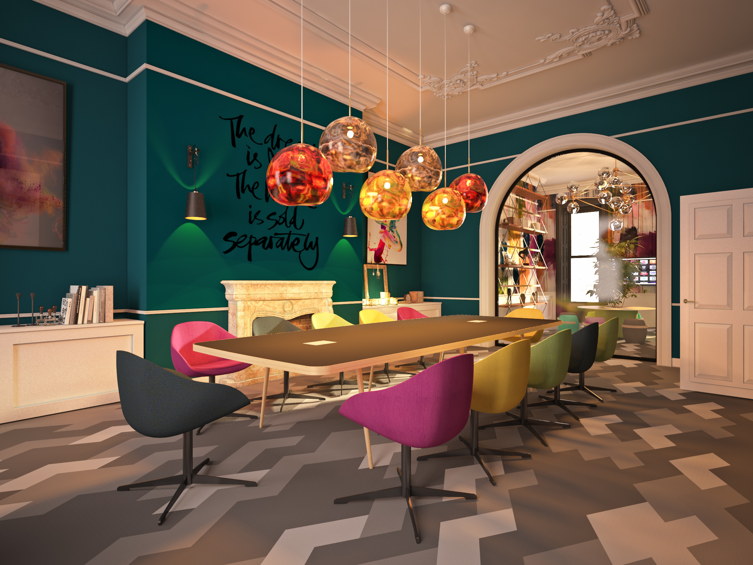 Ruth-Anne McMillan of McMillan Interiors of Dublin says that maximalist spaces aren't afraid to be fun and eclectic.