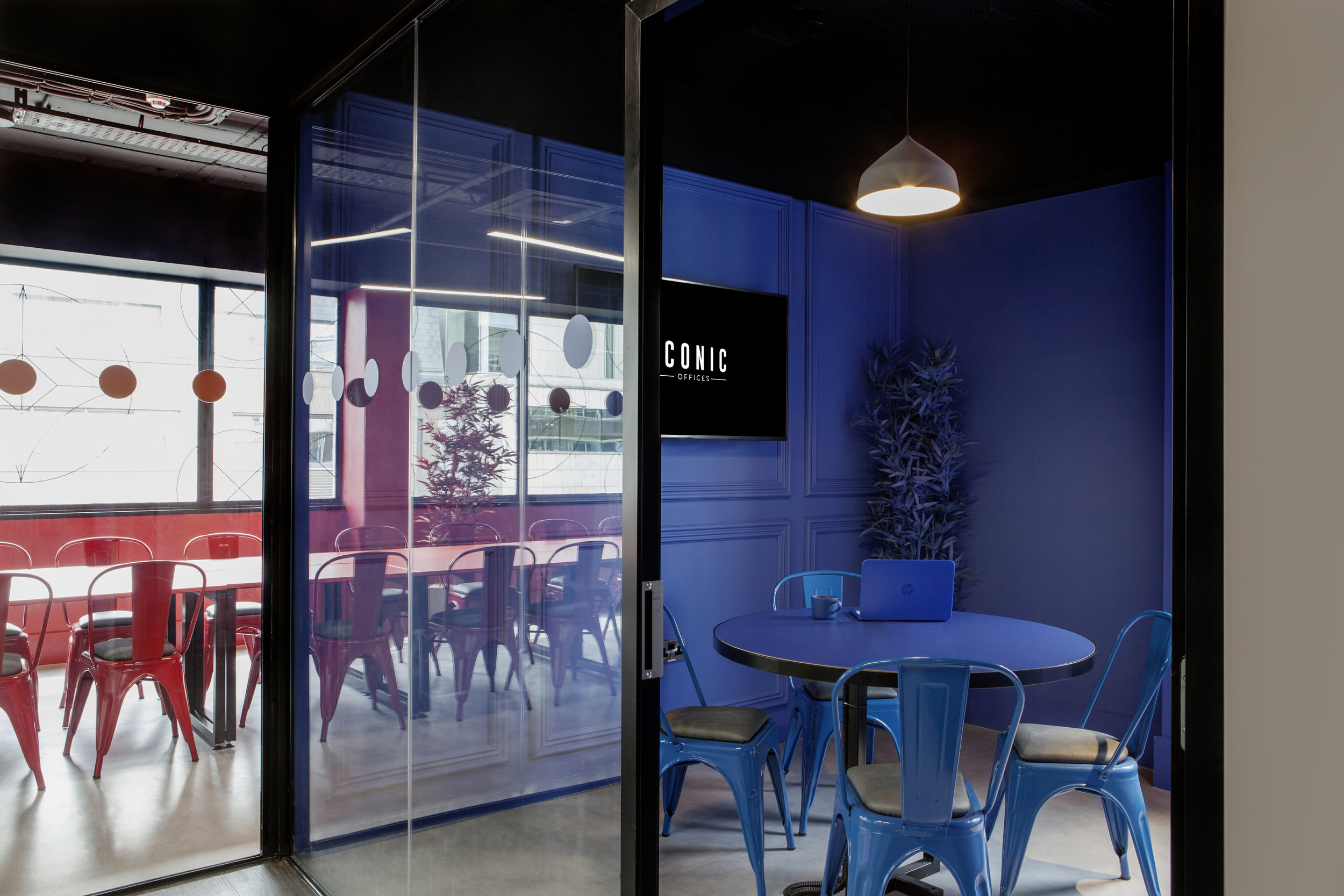 """At The Brickhouse in Dublin, """"color dipping"""" enriches the interior spaces with vibrant hues."""