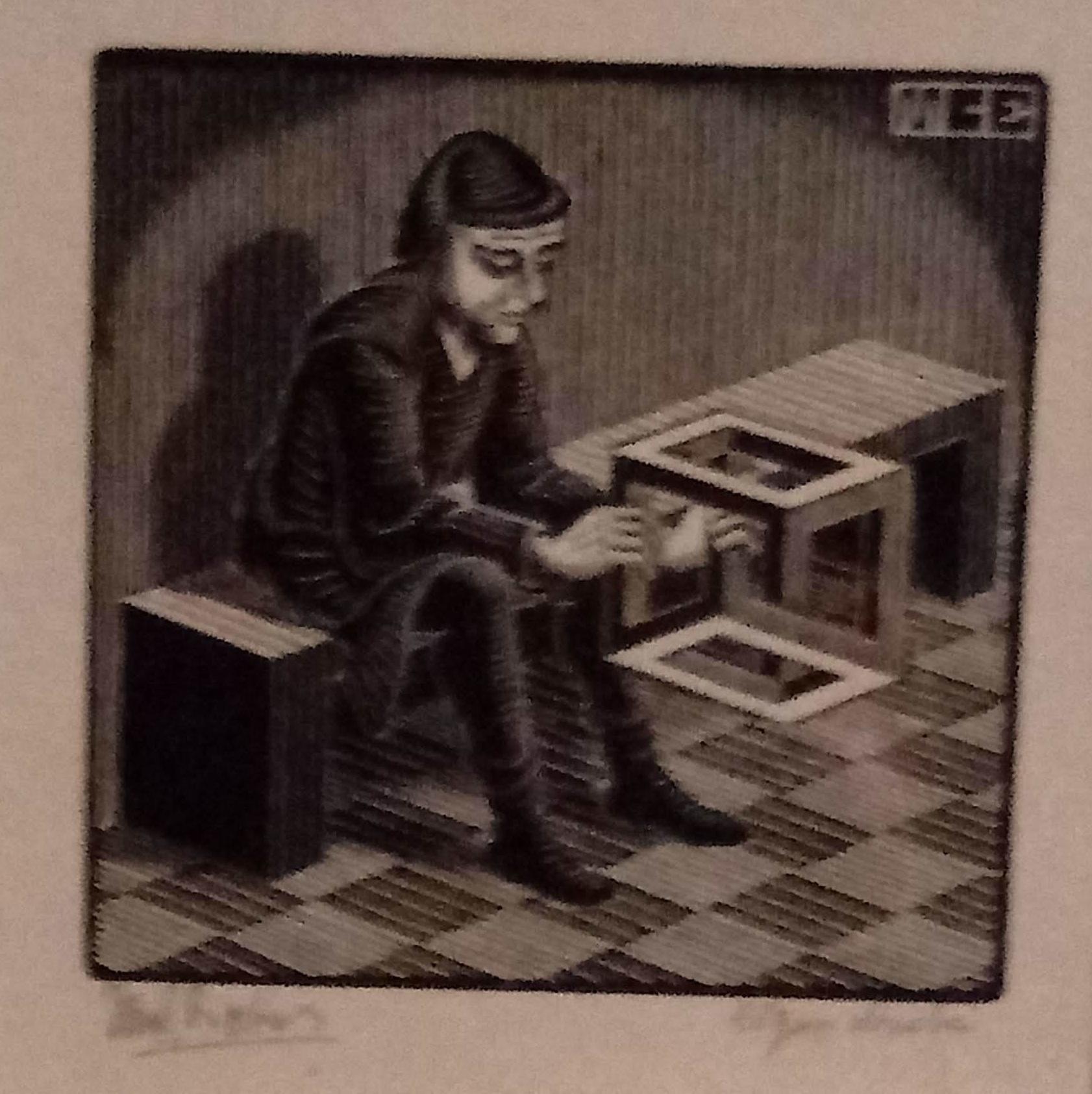 escher man sitting geometric.jpg