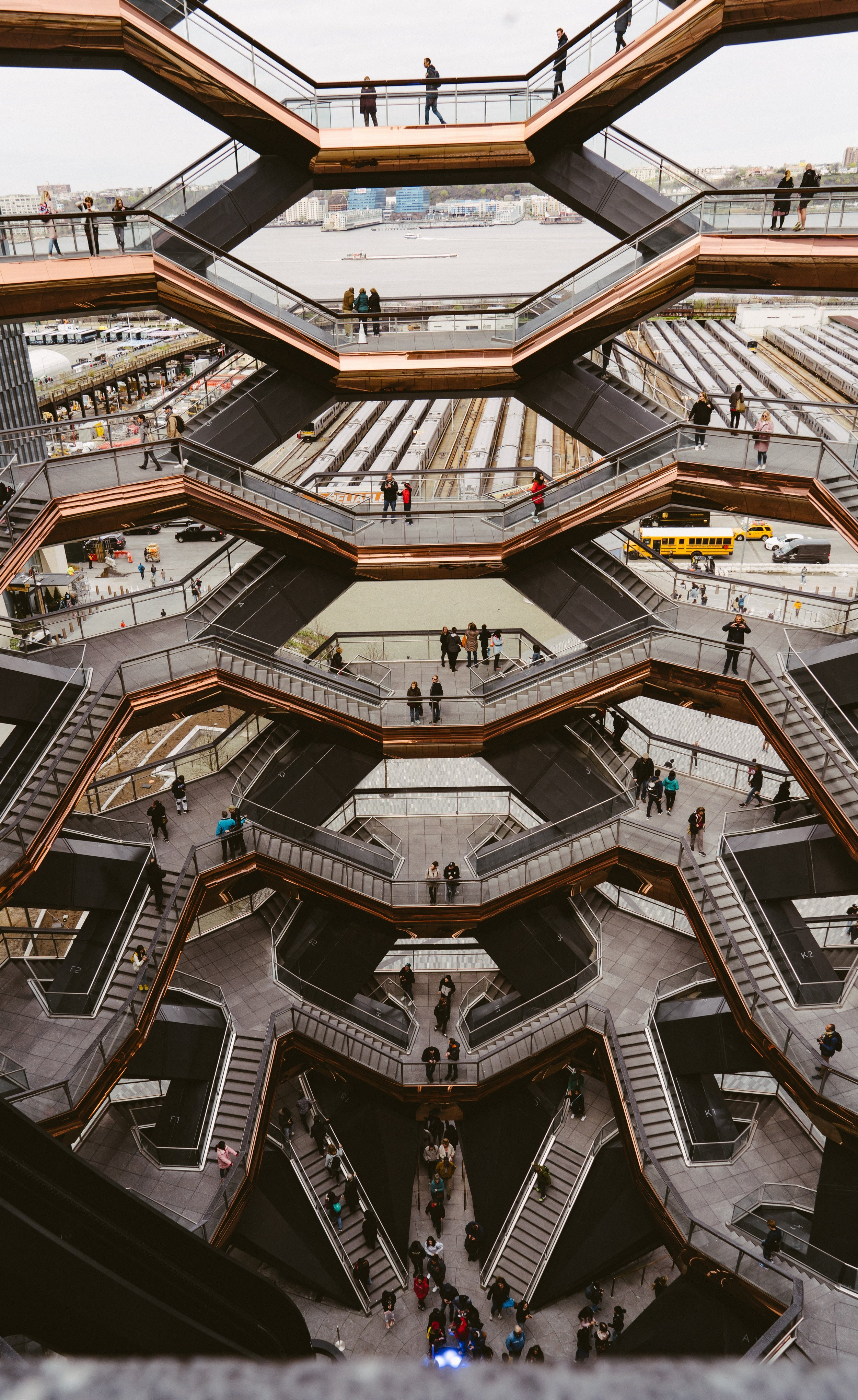 BCG's new office spans five floors at 10 Hudson Yards, Manhattan's newest community and home to the Vessel. Photo by  MJ Tangonan  on  Unsplash